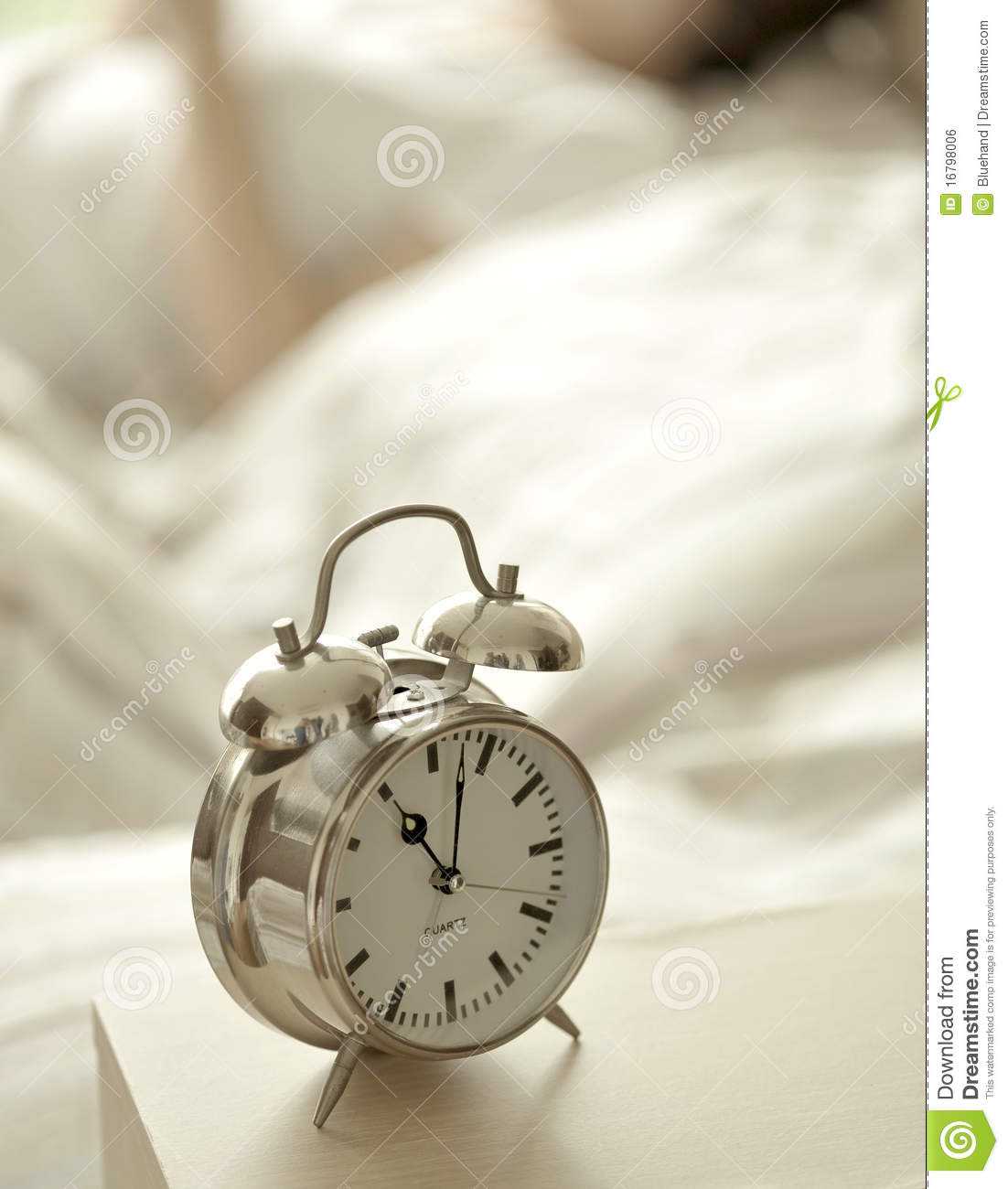 Alarm Clock In Bedroom Royalty Free Stock Image Image 16798006