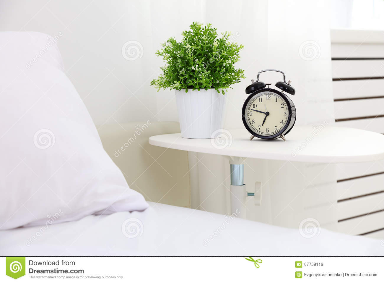 Royalty Free Stock Photo. Download Alarm Clock In Bedroom ...