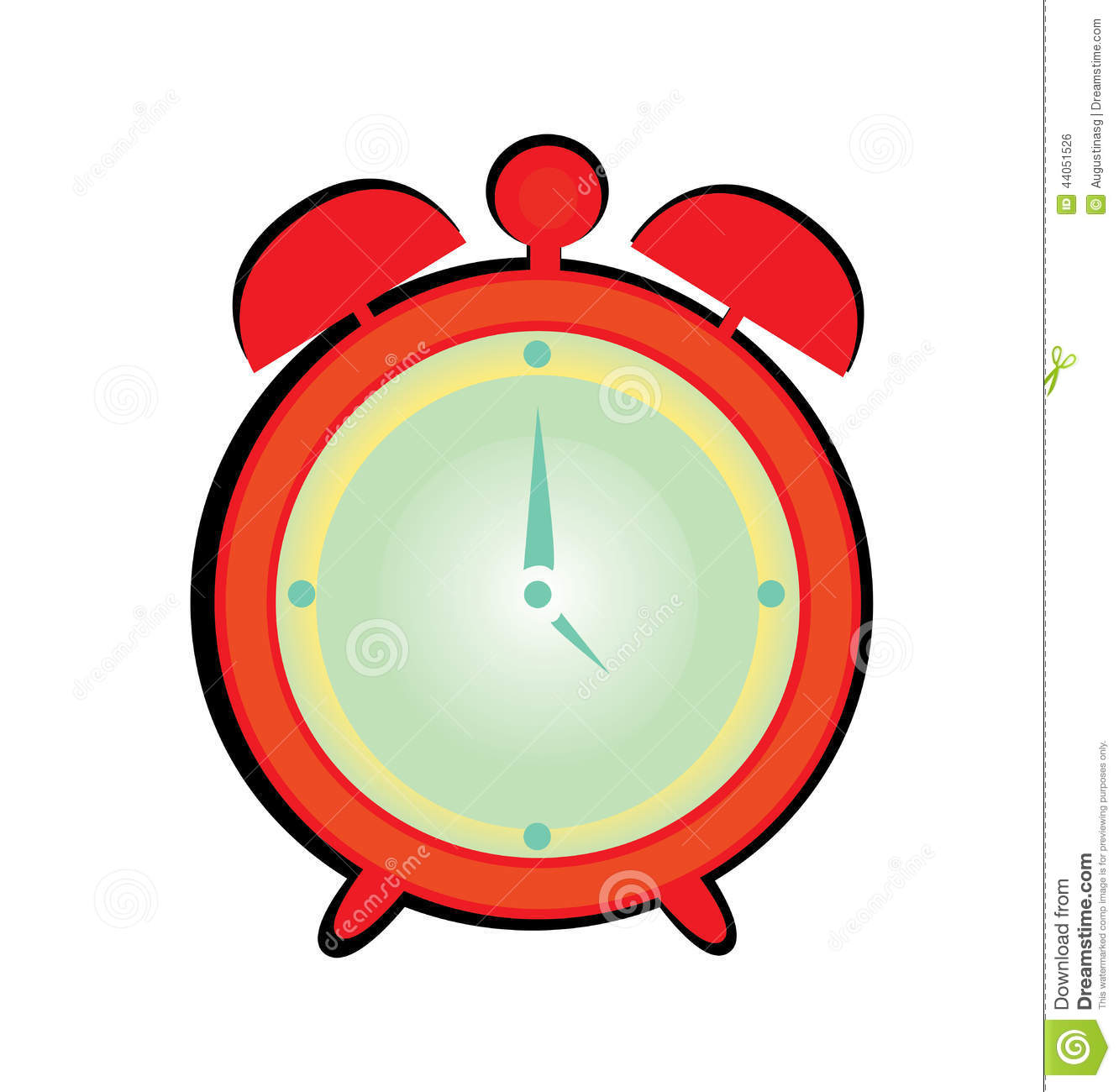 Alarm Clock Cartoon Stock Illustration - Image: 44051526