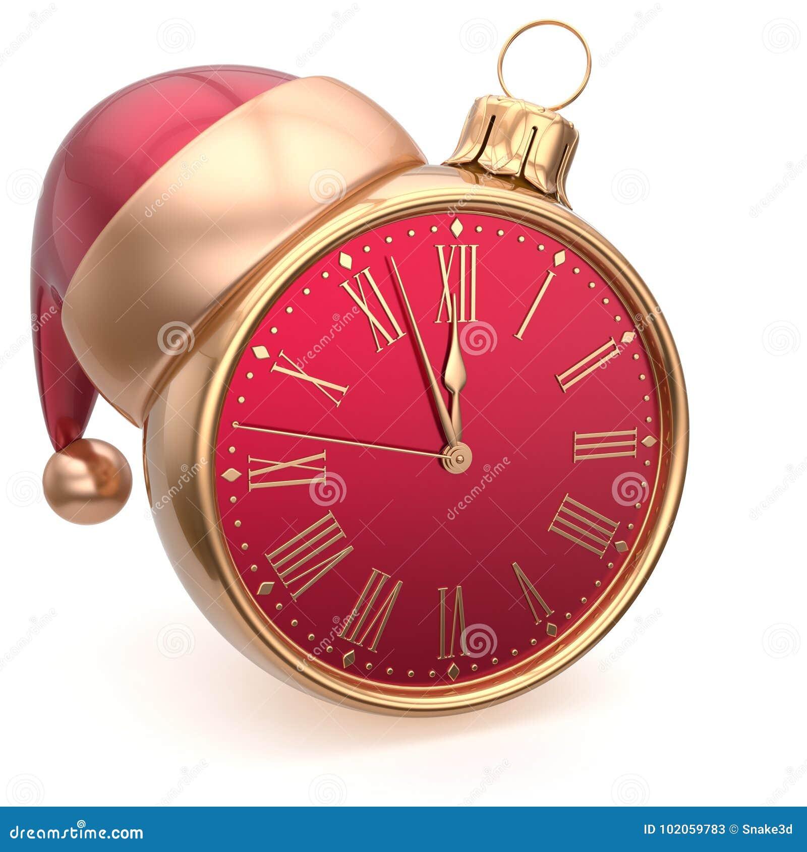 Alarm Clock Christmas Ball Decoration New Year`s Eve ...