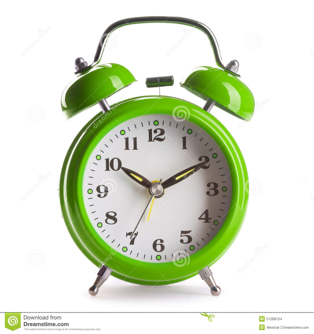 Download Alarm clock stock photo. Image of front, watch, retro - 51288154