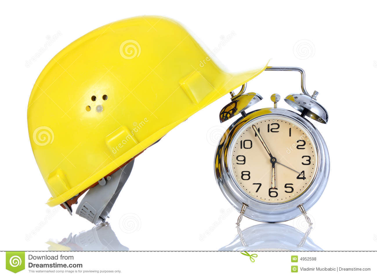 Alarm Clock And Helmet Royalty Free Stock Photos Image