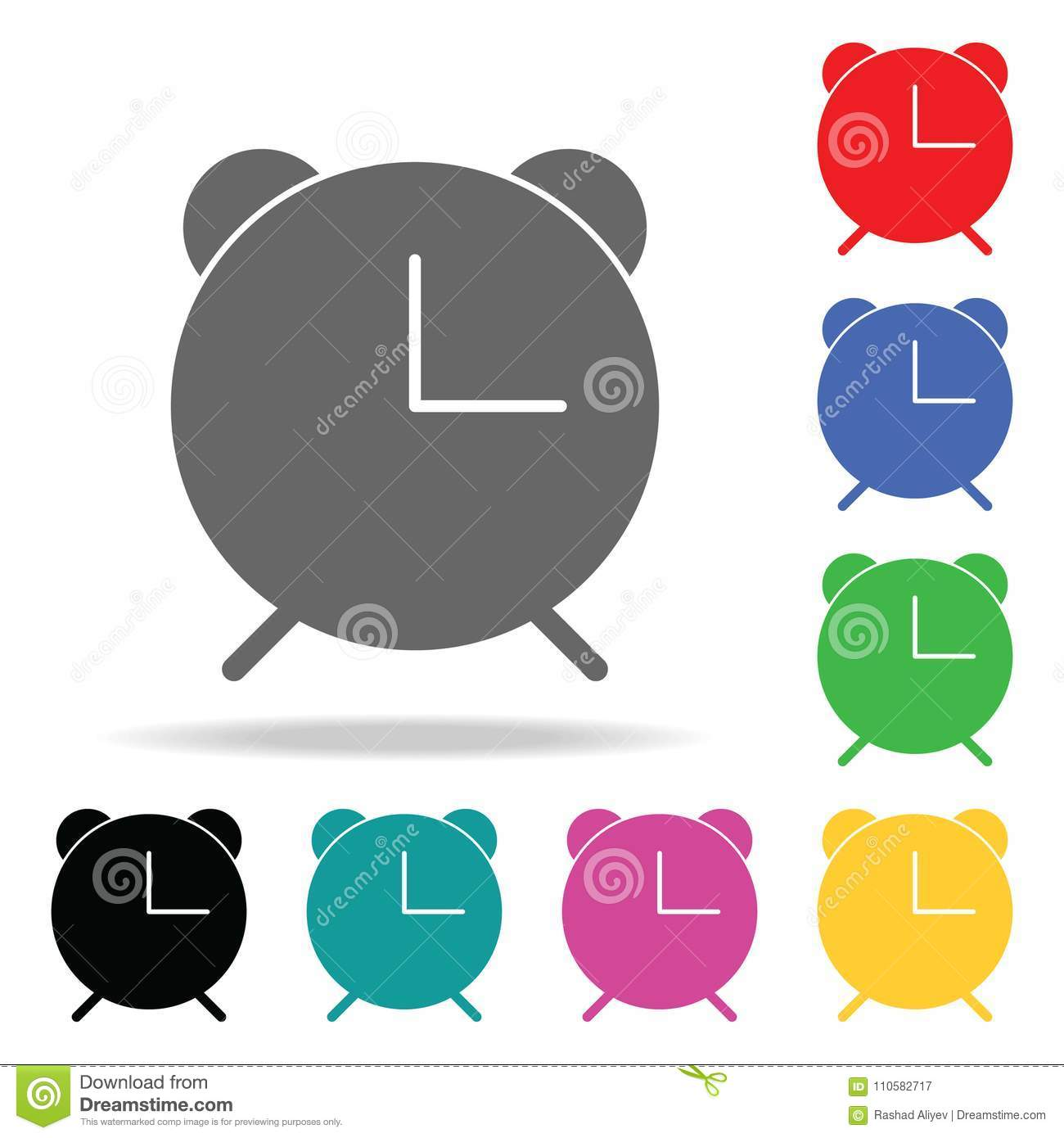 Alarm Clock Icon  Elements In Multi Colored Icons For Mobile