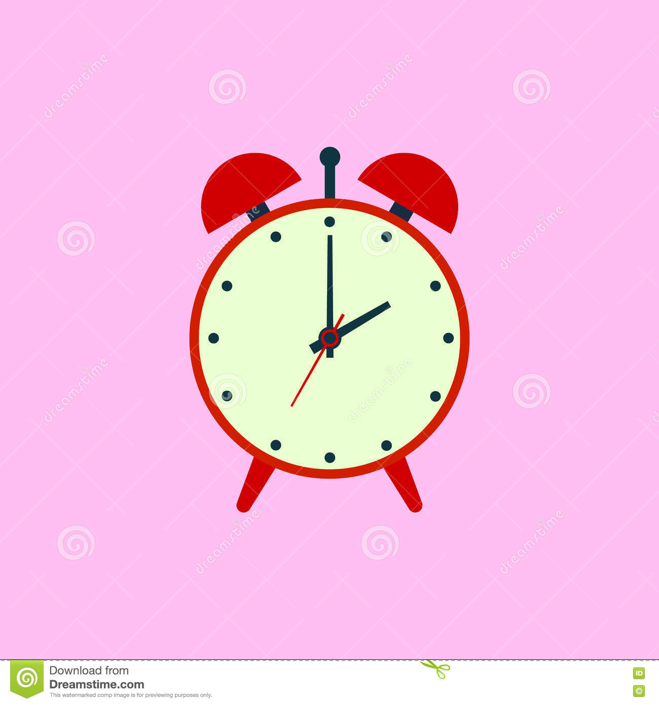 Alarm Clock Icon  Flat Design Style  Simple Icon  Web Site Page And