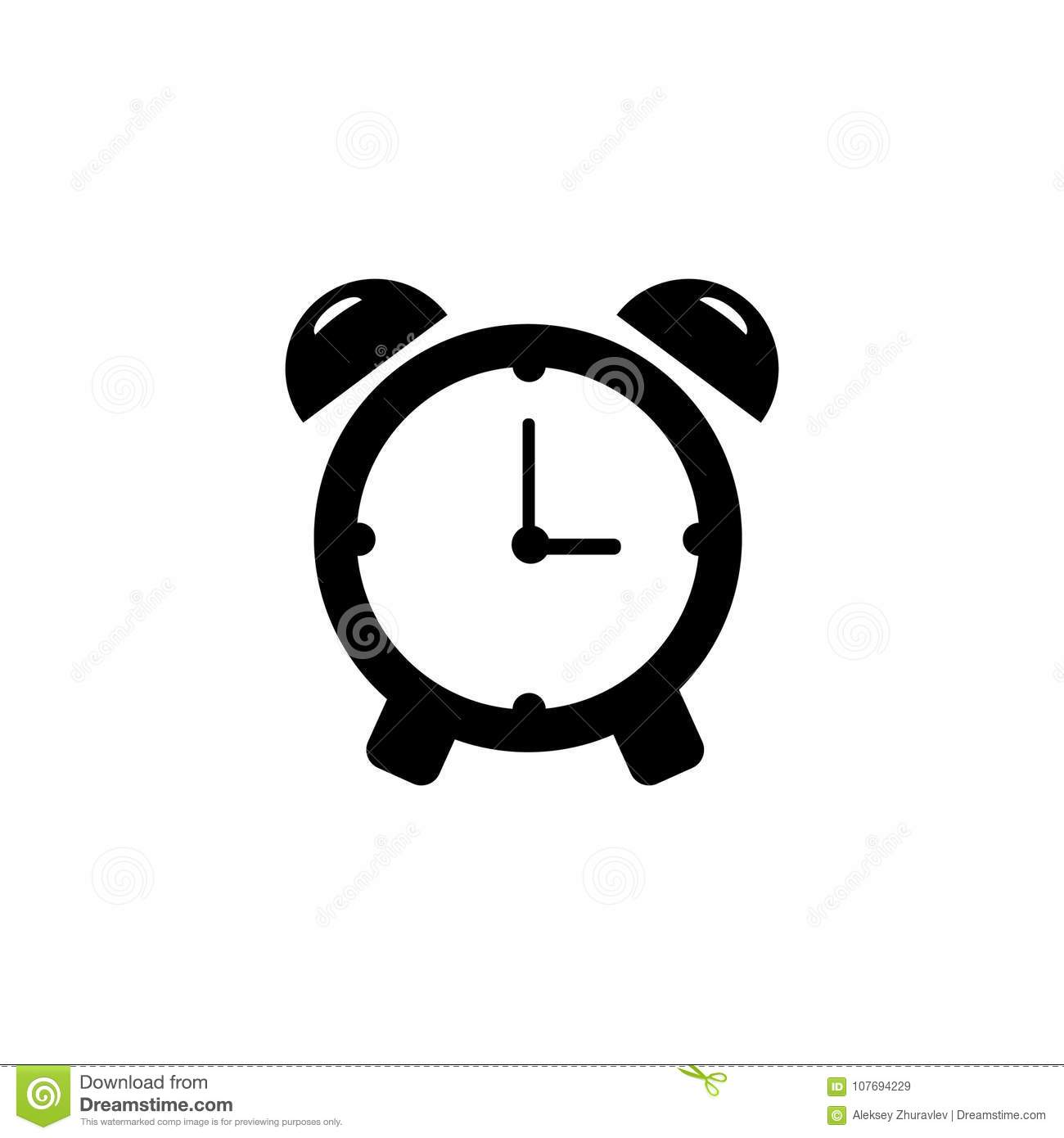 Alarm Clock Icon Single High Quality Outline Symbol Of Time For Web