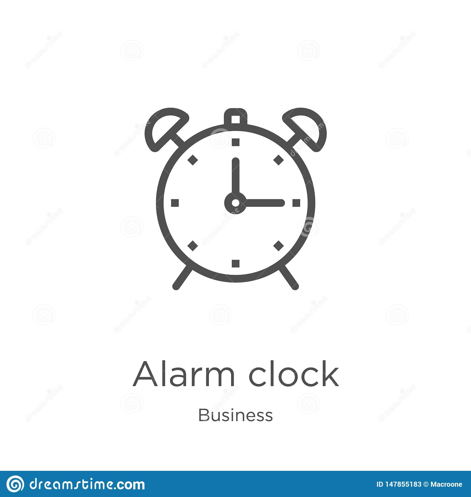 Alarm Clock Icon Vector From Business Collection  Thin Line Alarm