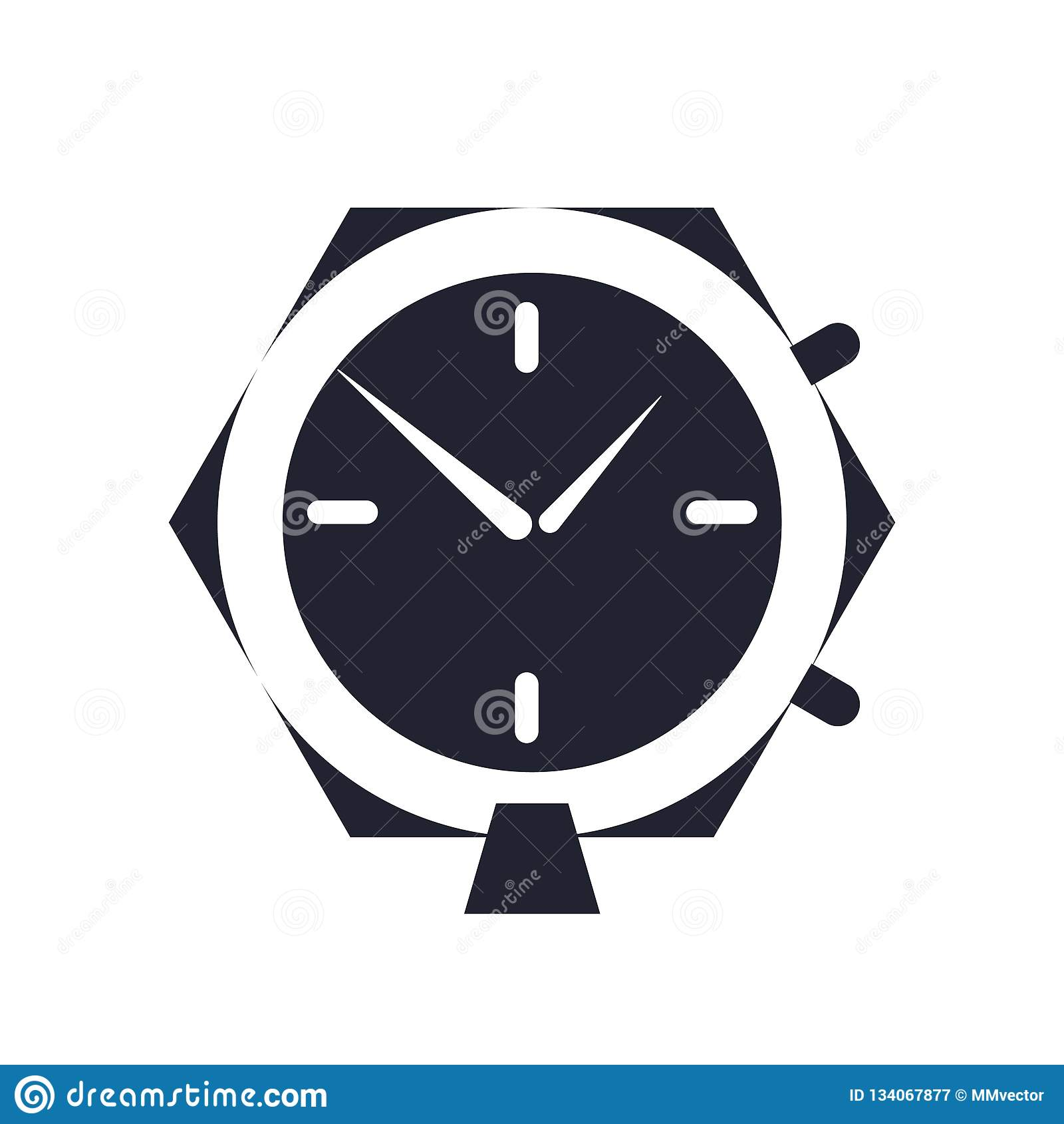 Alarm Clock Icon Vector Sign And Symbol Isolated On White