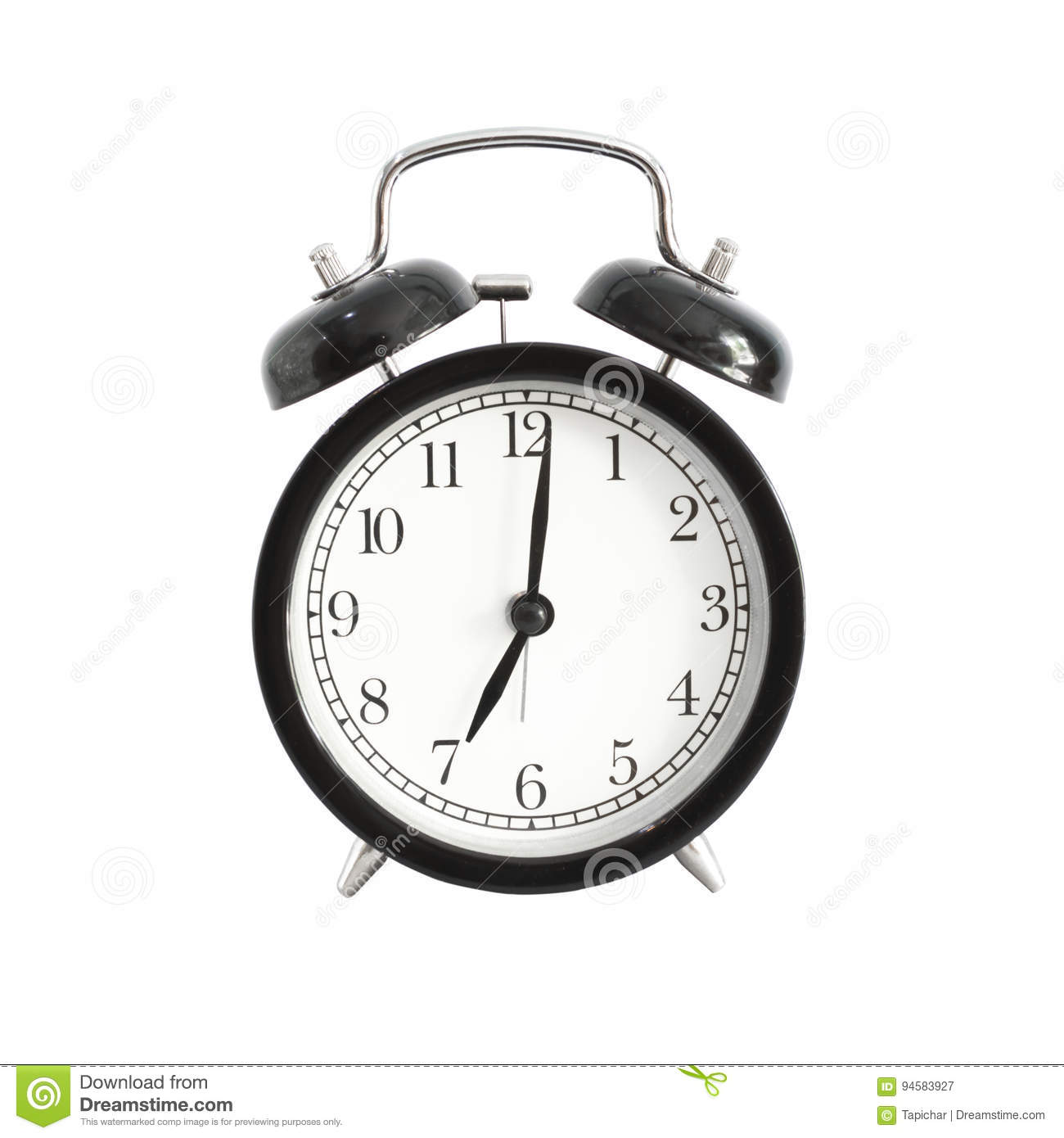 alarm clock isolated alarm clock setting at 7 am or pm stock image image of clock minute. Black Bedroom Furniture Sets. Home Design Ideas