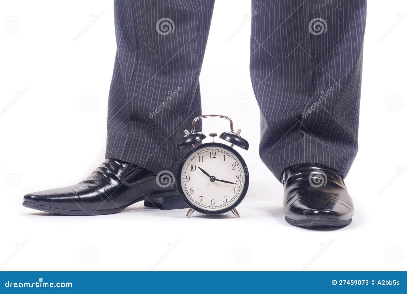 Alarm clock and legs