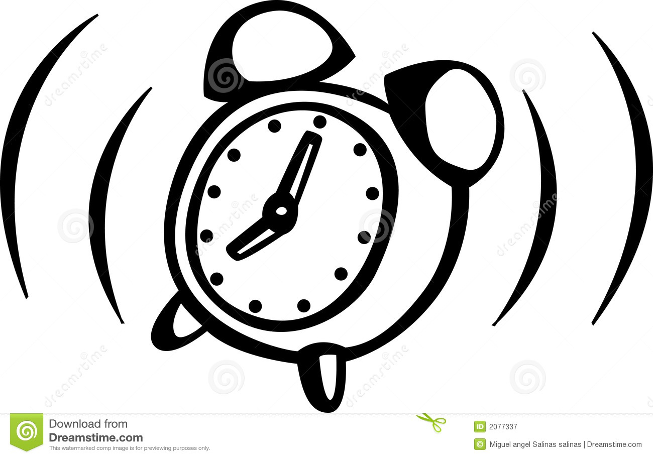 Alarm Clock Ringing Vector Illustration Royalty Free Stock ...