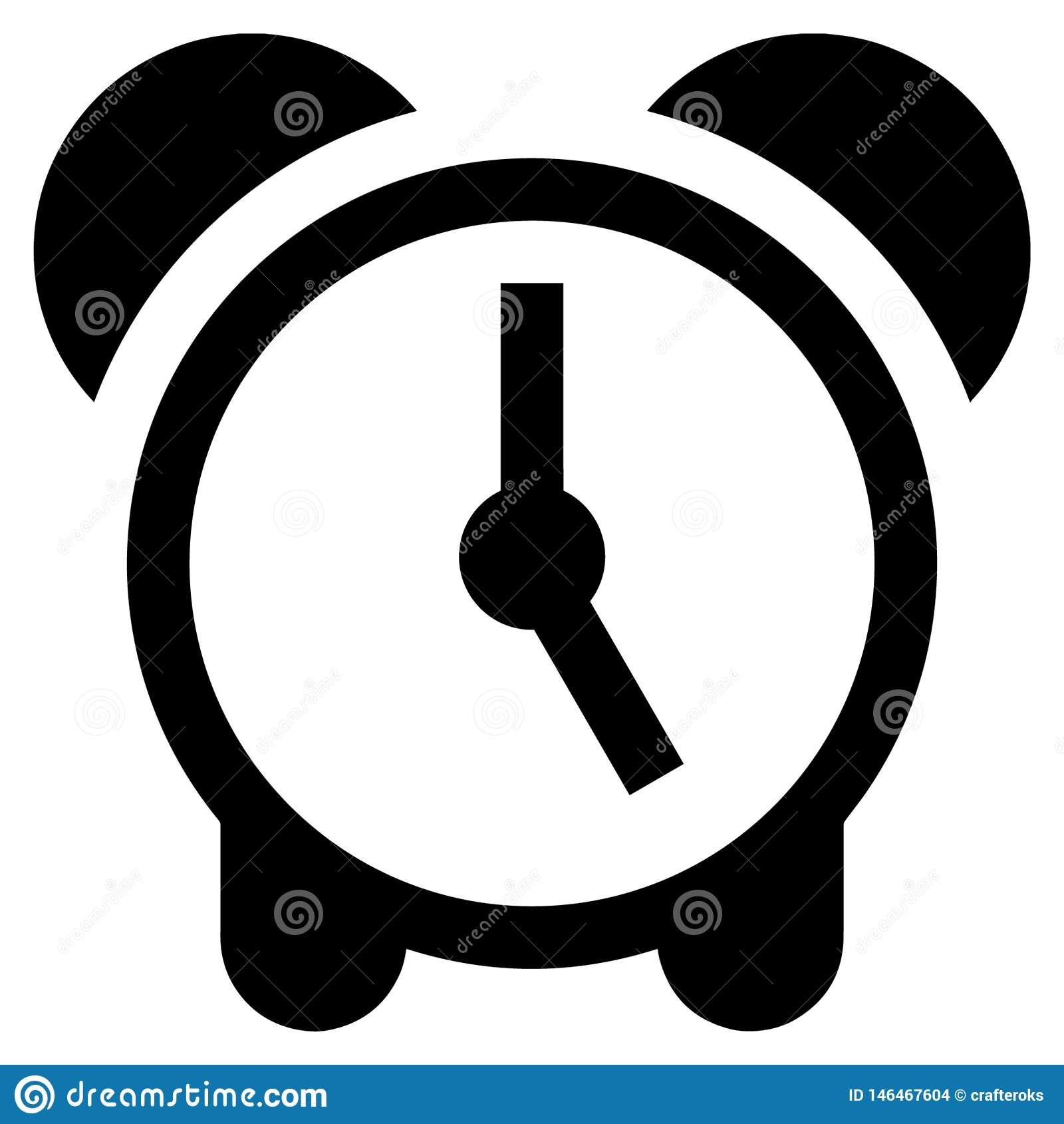 Alarm Clock Vector Eps Hand Drawn Crafteroks Svg Free, Free