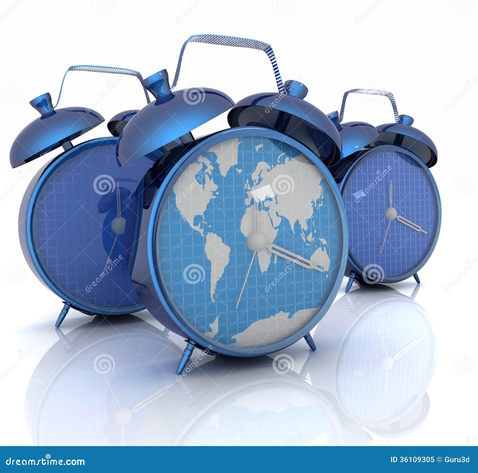 Alarm clock of world map and alarm clocks stock illustration alarm clock of world map and alarm clocks gumiabroncs Choice Image