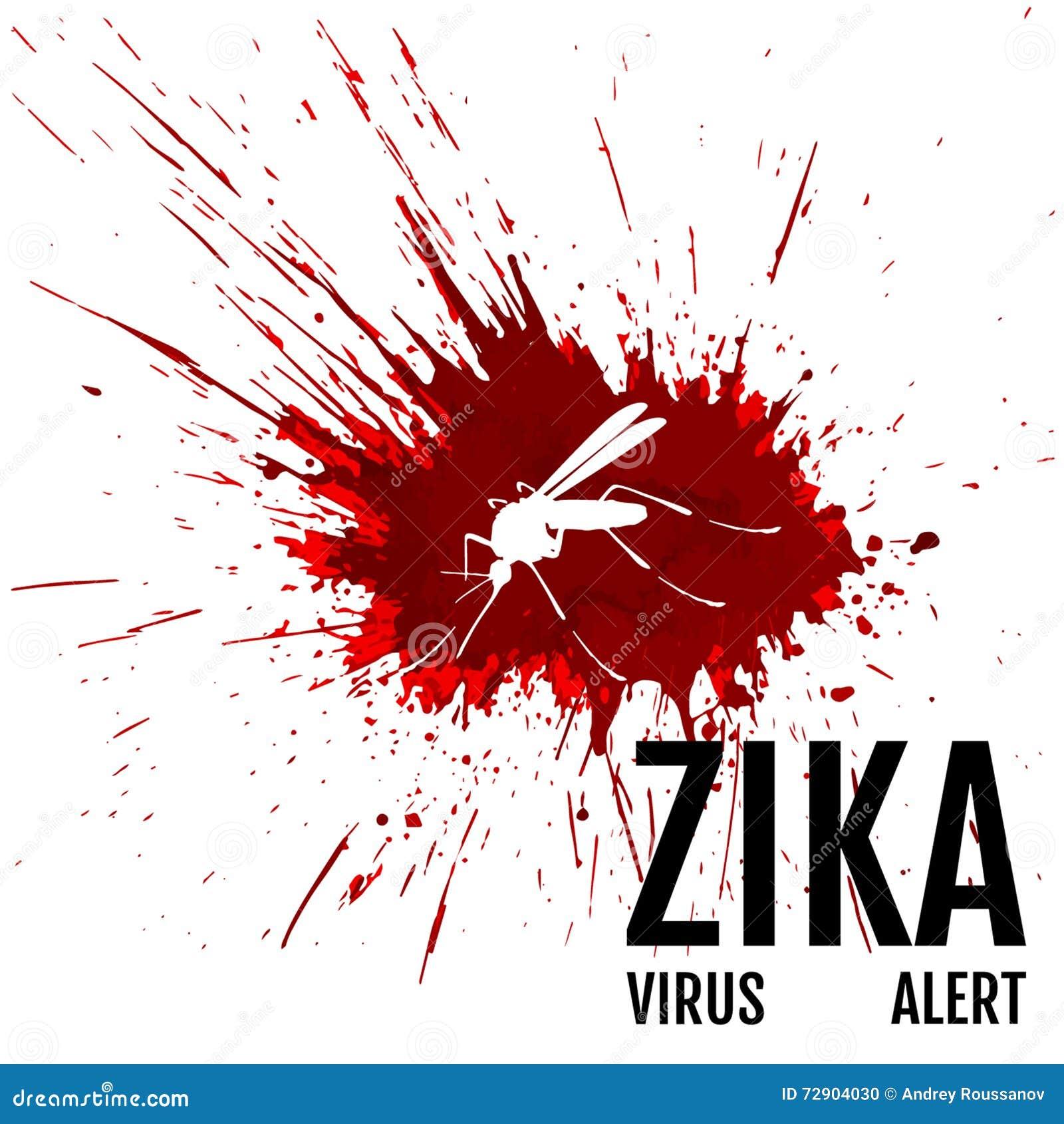 Alarma Del Virus De Zika Mosquito Con Frase Ilustración Del