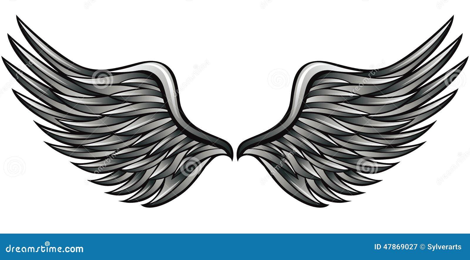 alas de plata ilustraci u00f3n del vector imagen 47869027 angel wing clipart borders angel wing clipart scribble