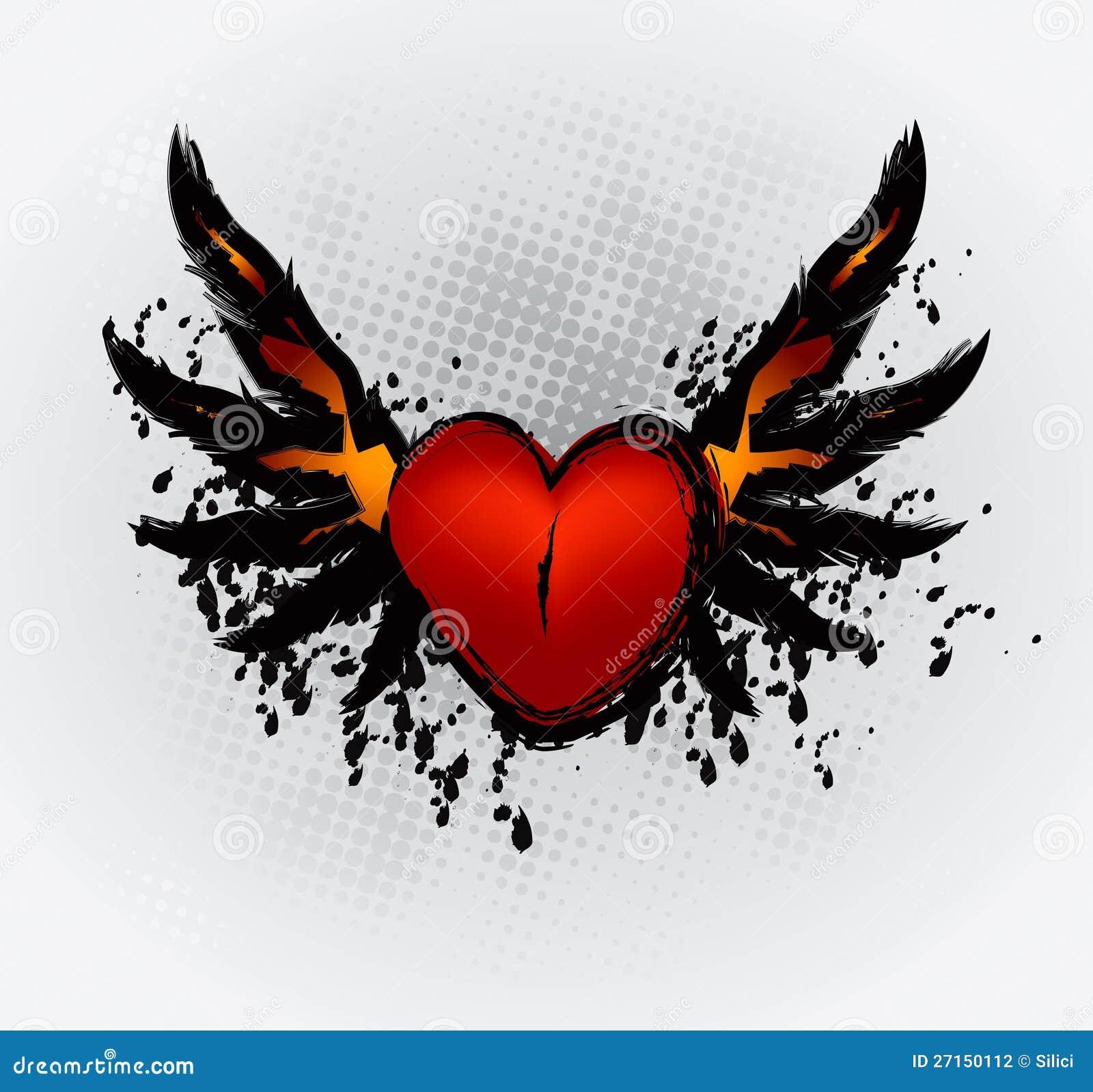 Dibujos de corazones con alas - Fotos graciosas gratis de