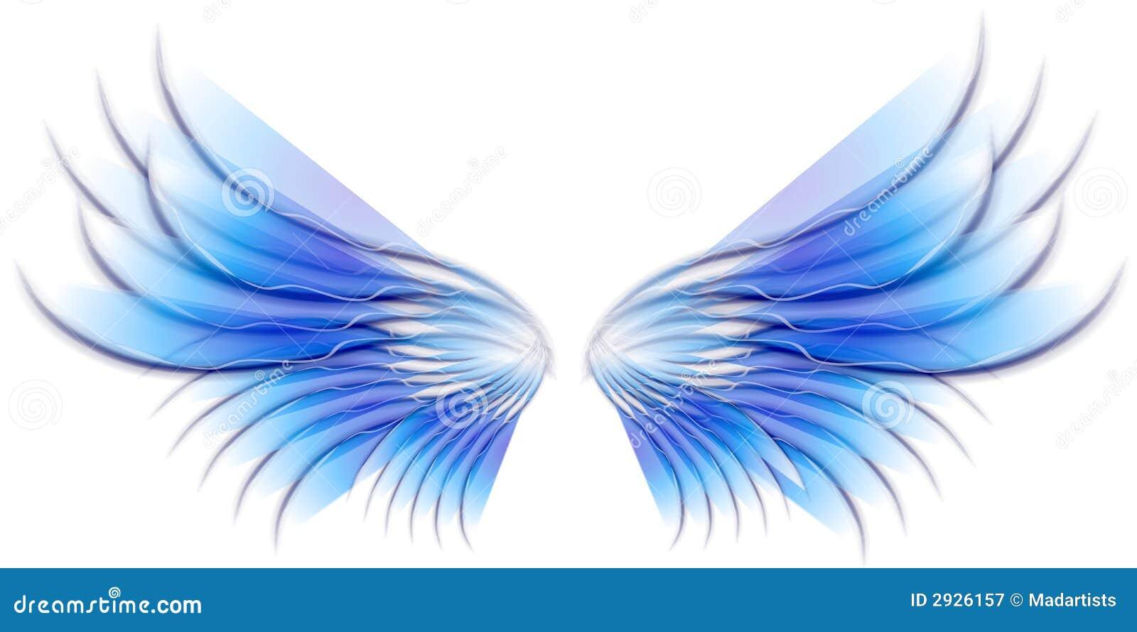 Alas del pájaro o de la hada del ángel azules