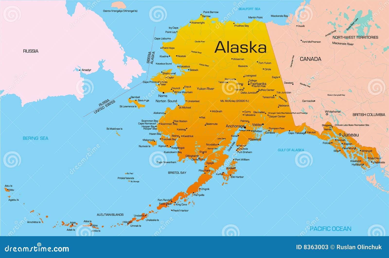 Alaska Stock Vector Illustration Of Atlas Outline Geographic