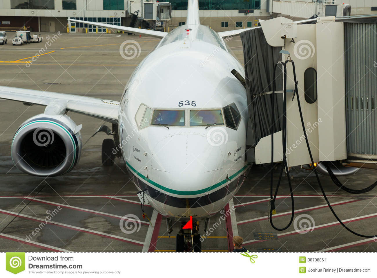 Alaska Airlines Flight Boarding Editorial Photo Image Of