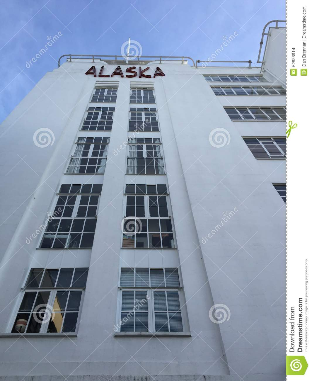 Alaska Building Editorial Stock Image Image 52638914