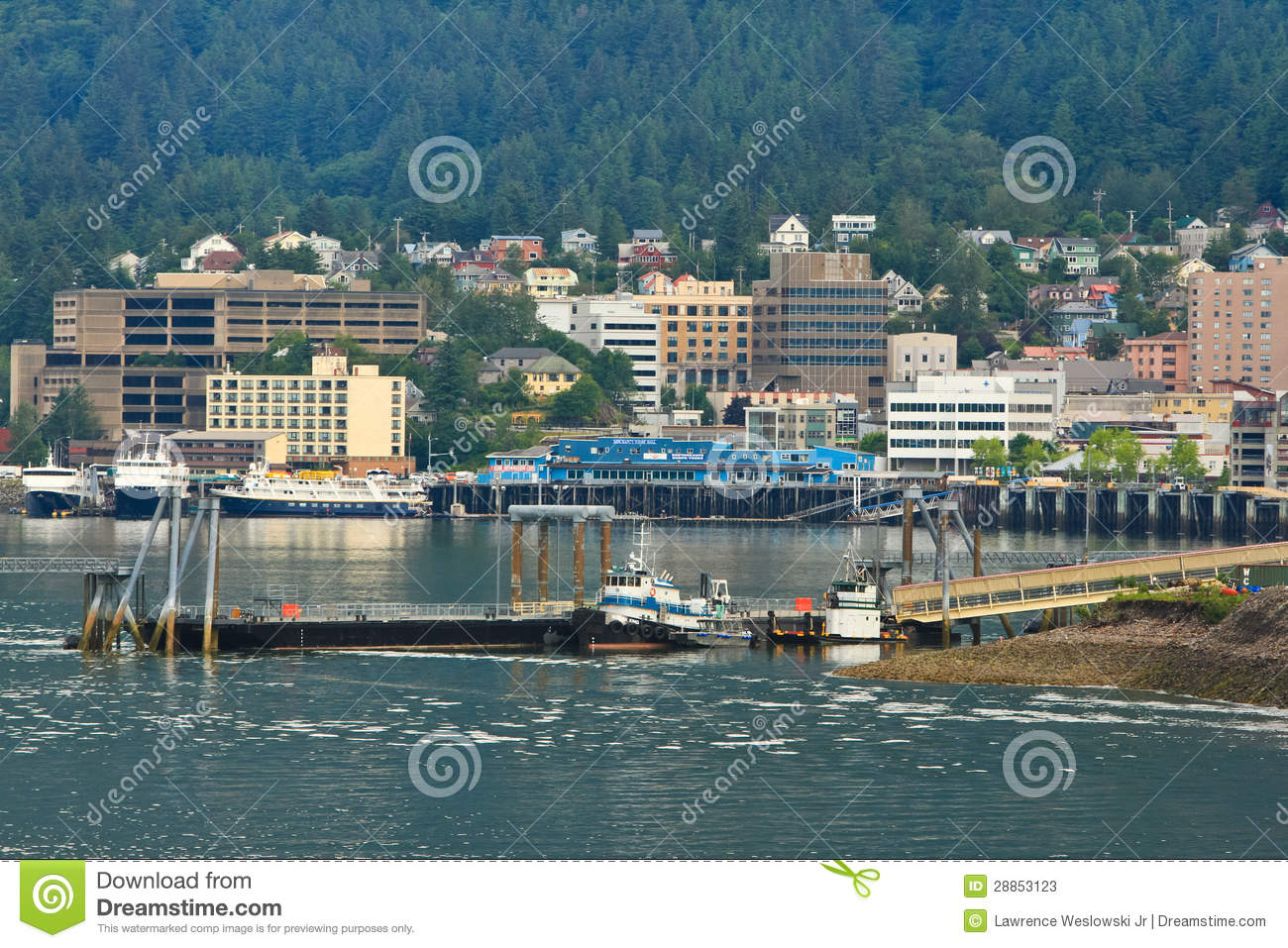 Alaska - Downtown Juneau Waterfront Editorial Stock Photo - Image ...