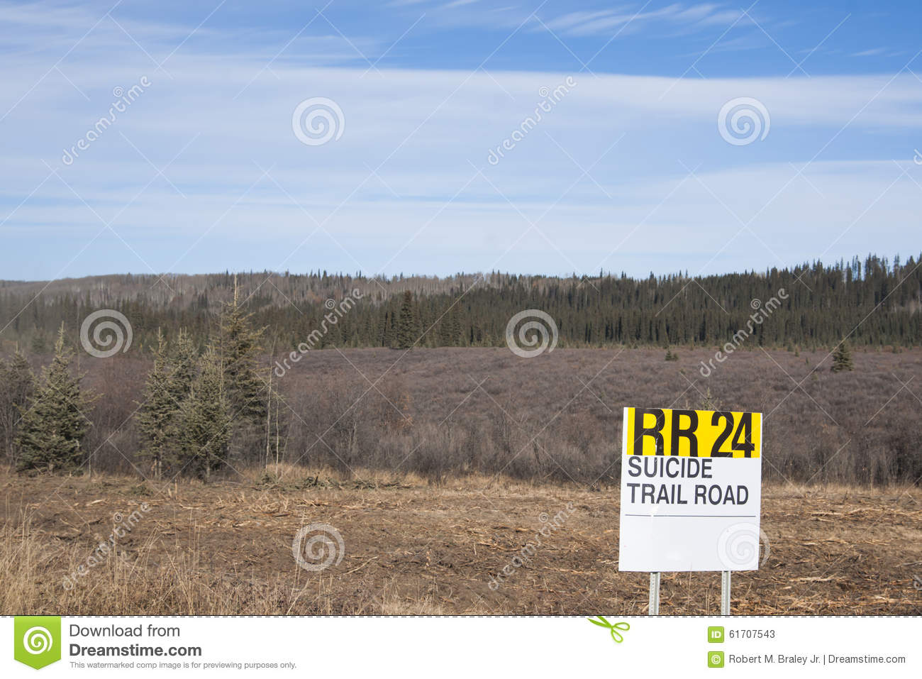 Download Alaska Highway Canada Suicide Trail Editorial Stock Photo - Image of british, mountain: 61707543