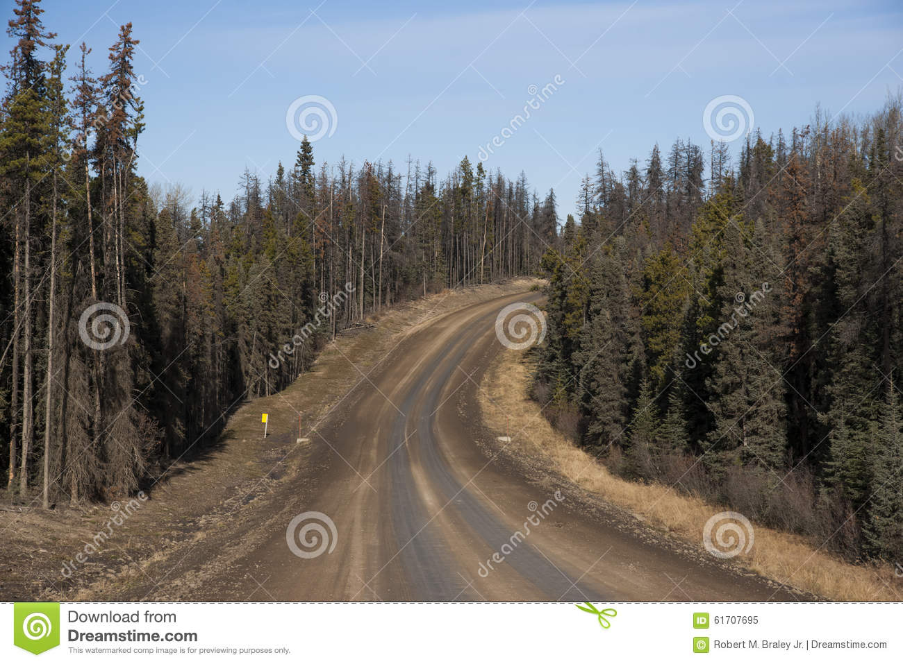 Download Alaska Highway Canada Suicide Trail Stock Image - Image of alaska, fall: 61707695