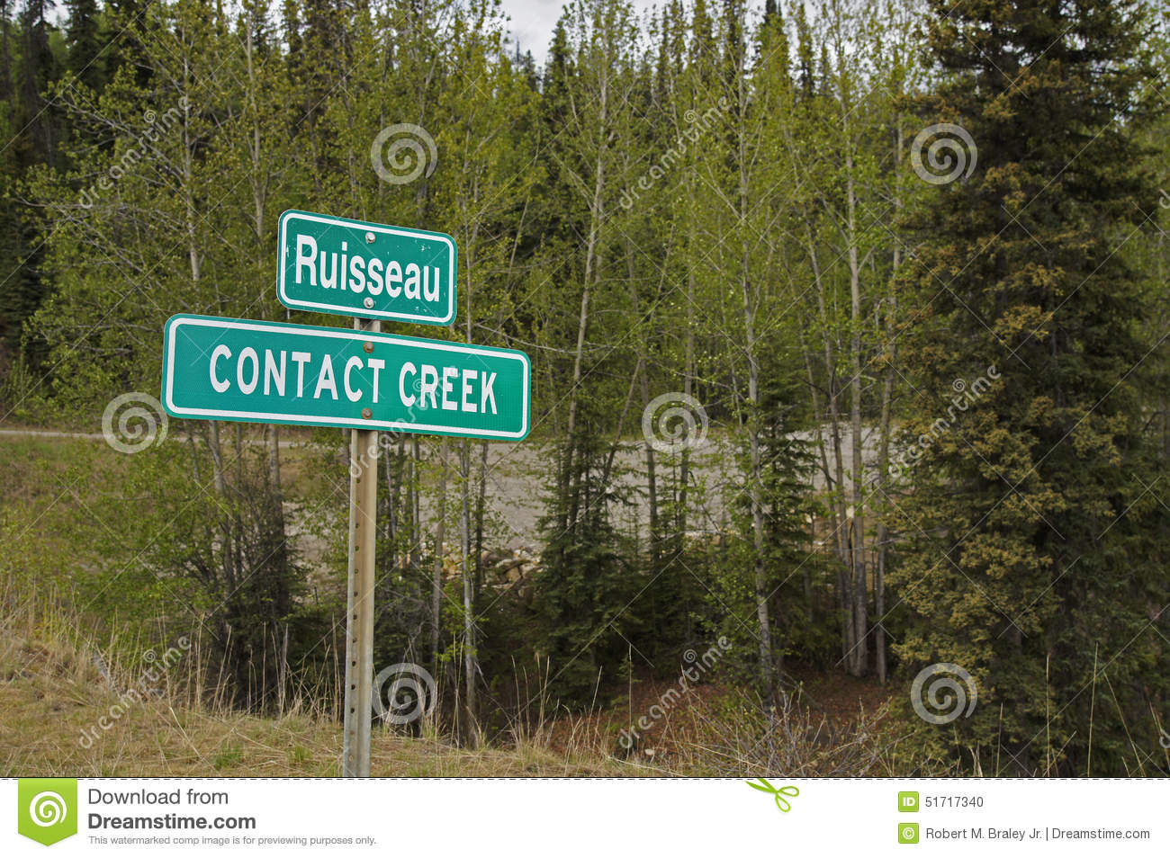 Alaska Highway Sign Contact Creek