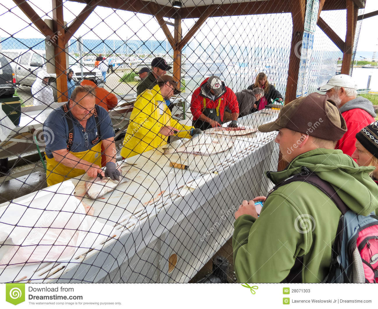 Alaska homer halibut fish cleaning station editorial for Best time to fish in alaska