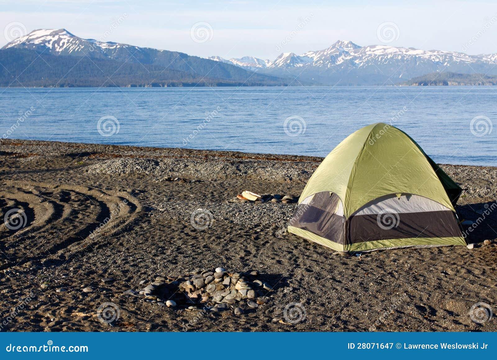 Alaska - Homer spottar att campa för Tent