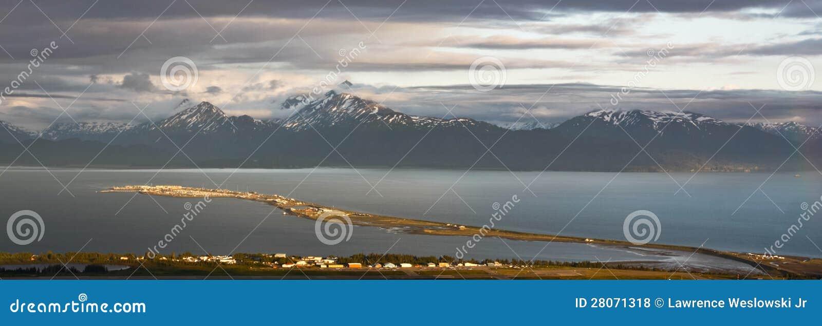 Alaska - Homer spottar på solnedgångpanoramat