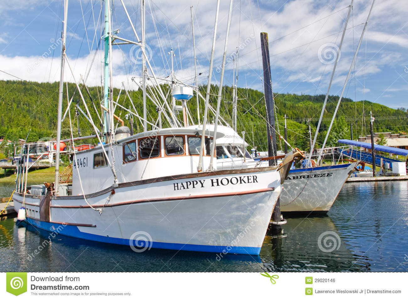 Alaska hoonah harbor fishing boats editorial photo image for Alaska fishing boats