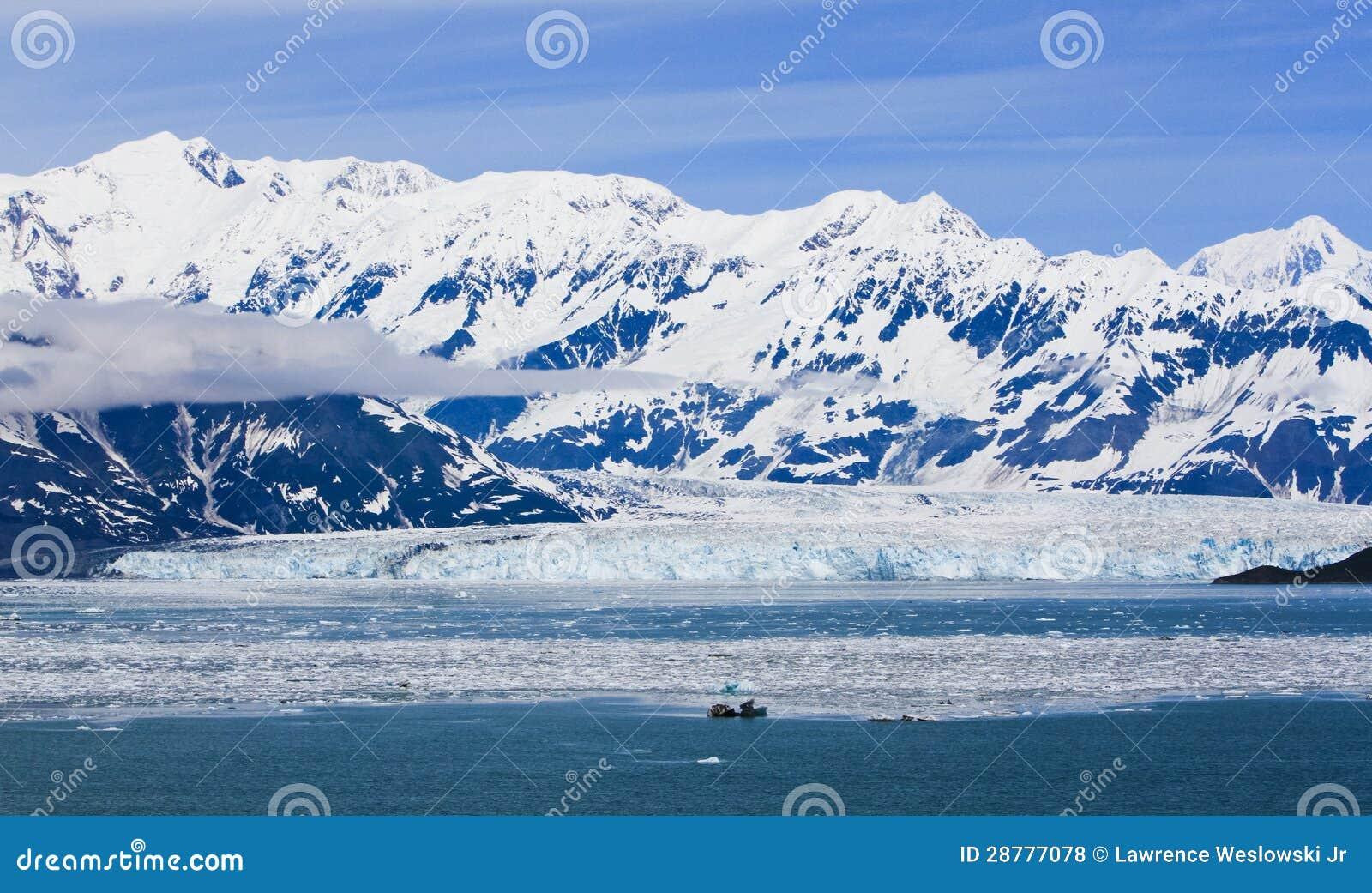 Alaska Hubbard Glacier and Mountains