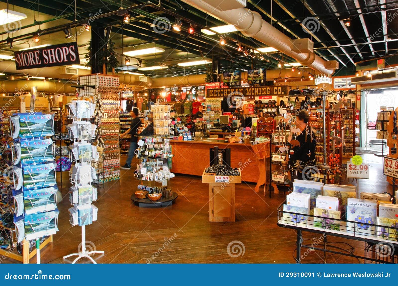 Alaska Ketchikan Mining Company Shop Interior Editorial Photo - Cruise ship shops