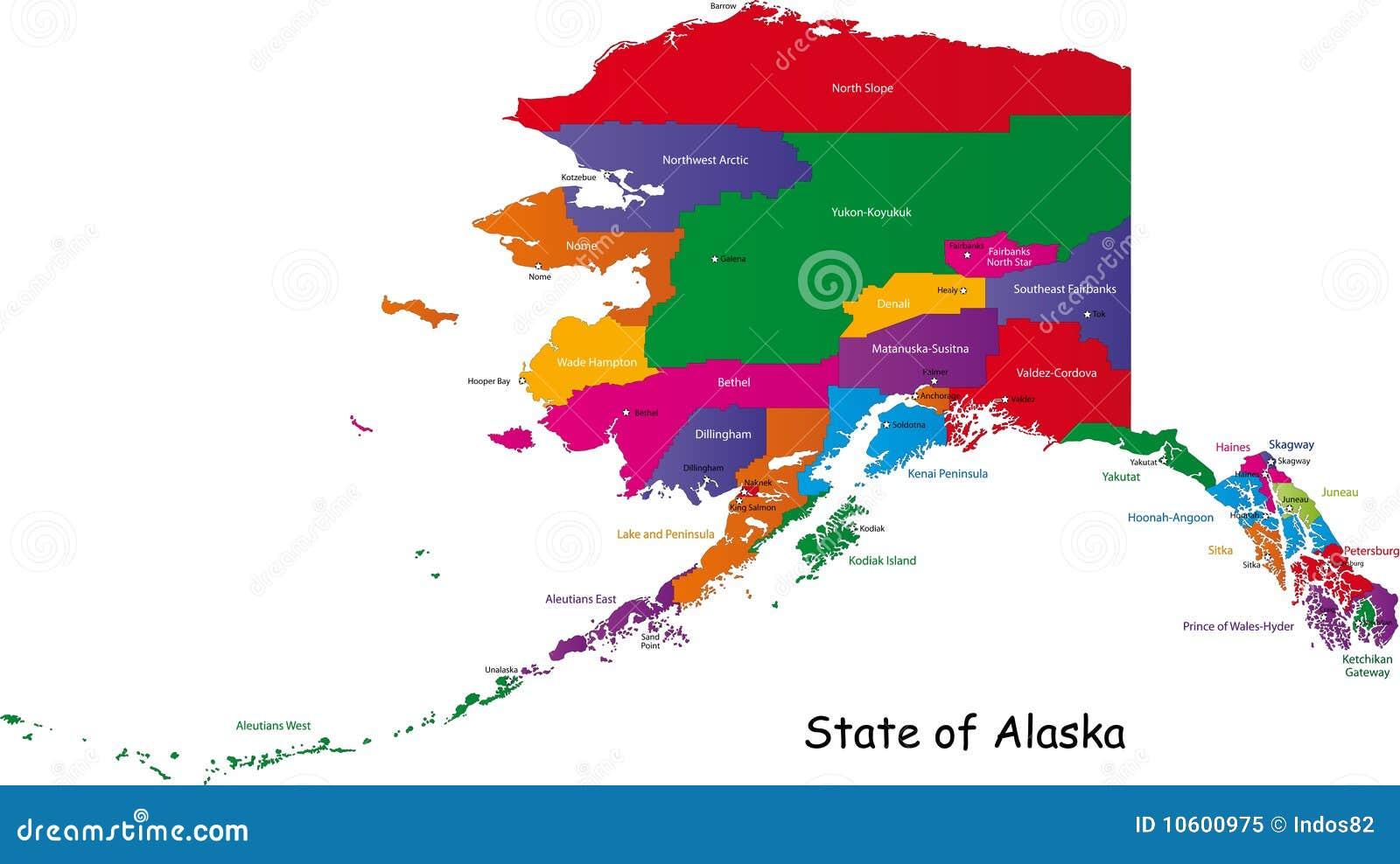 Alaska Map Royalty Free Stock Photo  Image 10600975