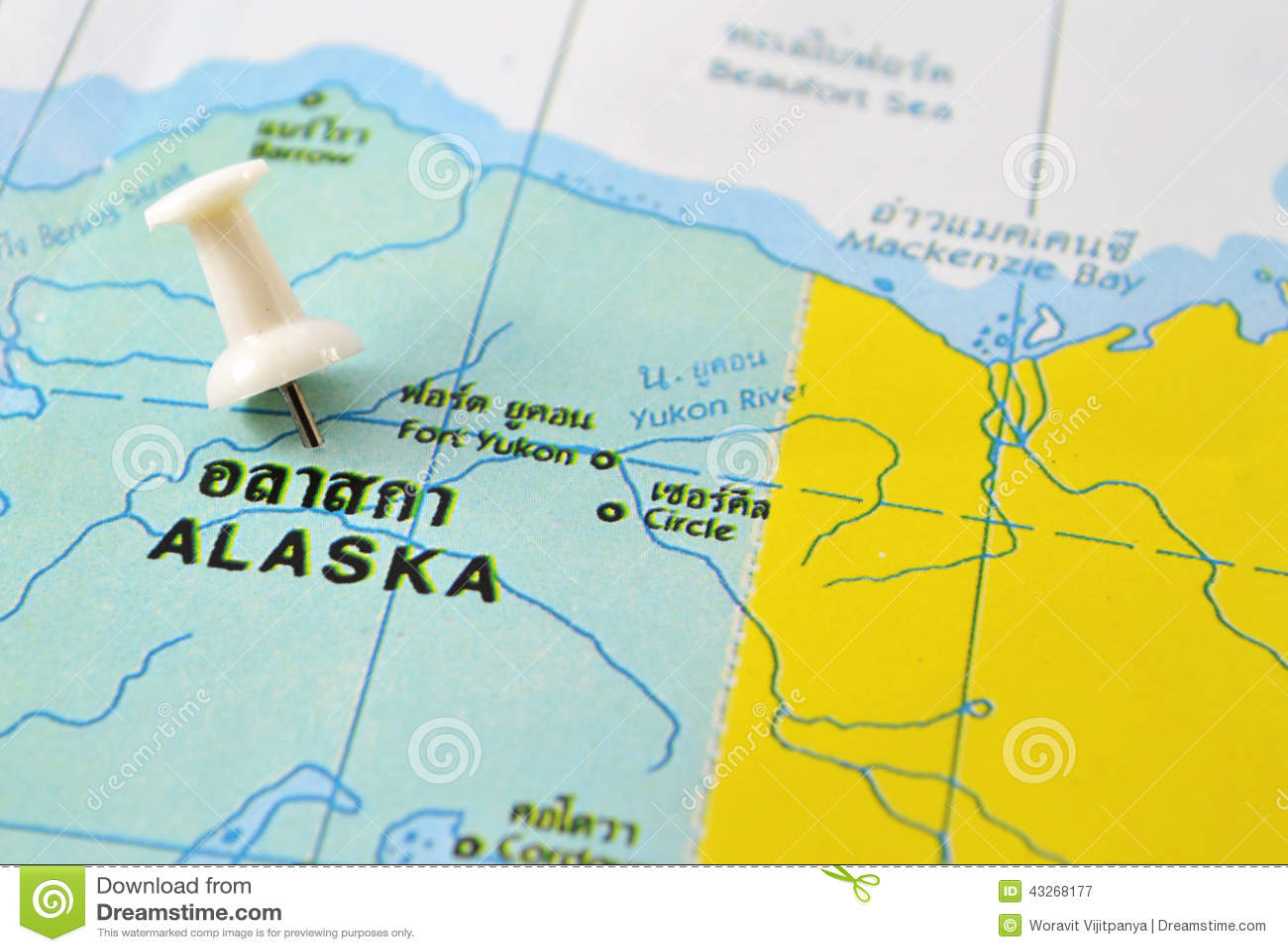 Alaska Map Stock Image Image Of Trip Travel Snow Alaska 43268177