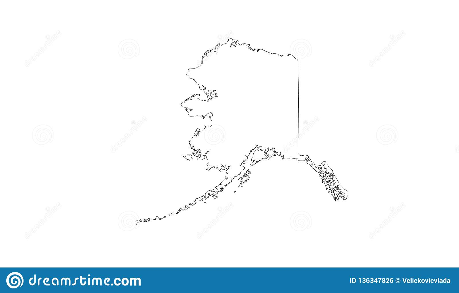 Alaska Map Us State In The Northwest Extremity Of North America - Us-map-alaska-state
