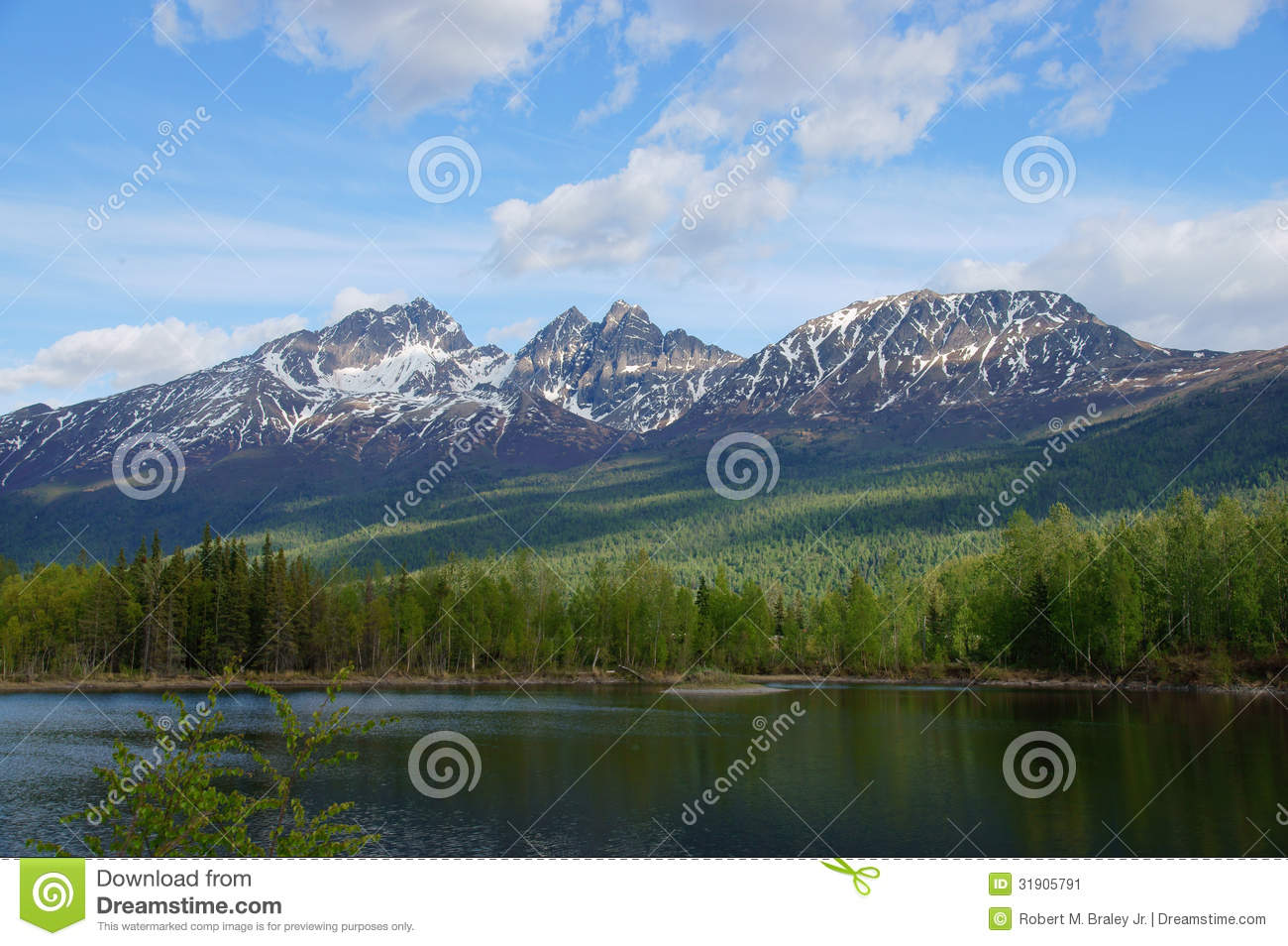 Download Alaska Mountains And Lake, Palmer Hays Flats Stock Image - Image of confluence, quiet: 31905791