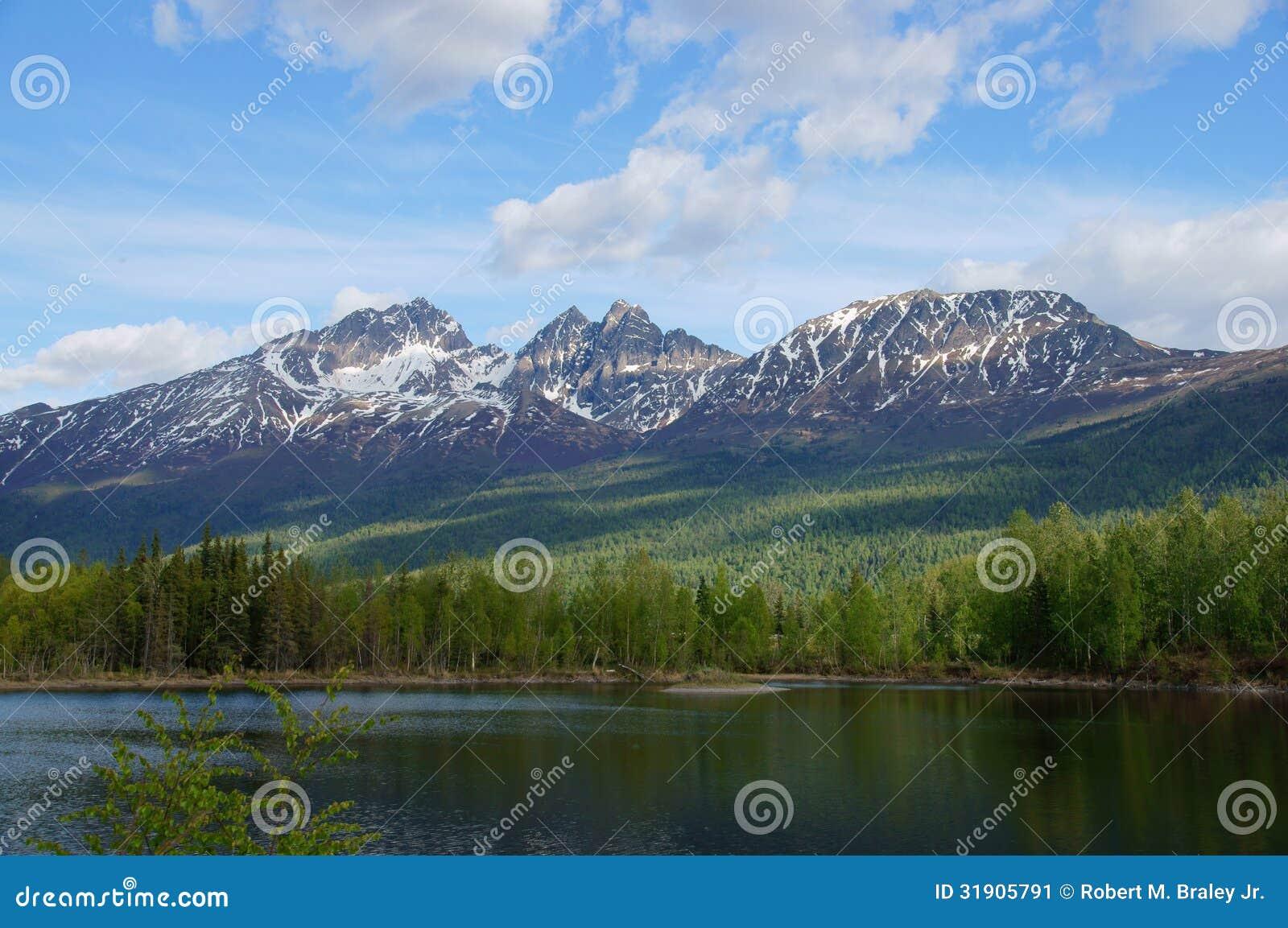 Alaska Mountains and Lake, Palmer Hays Flats