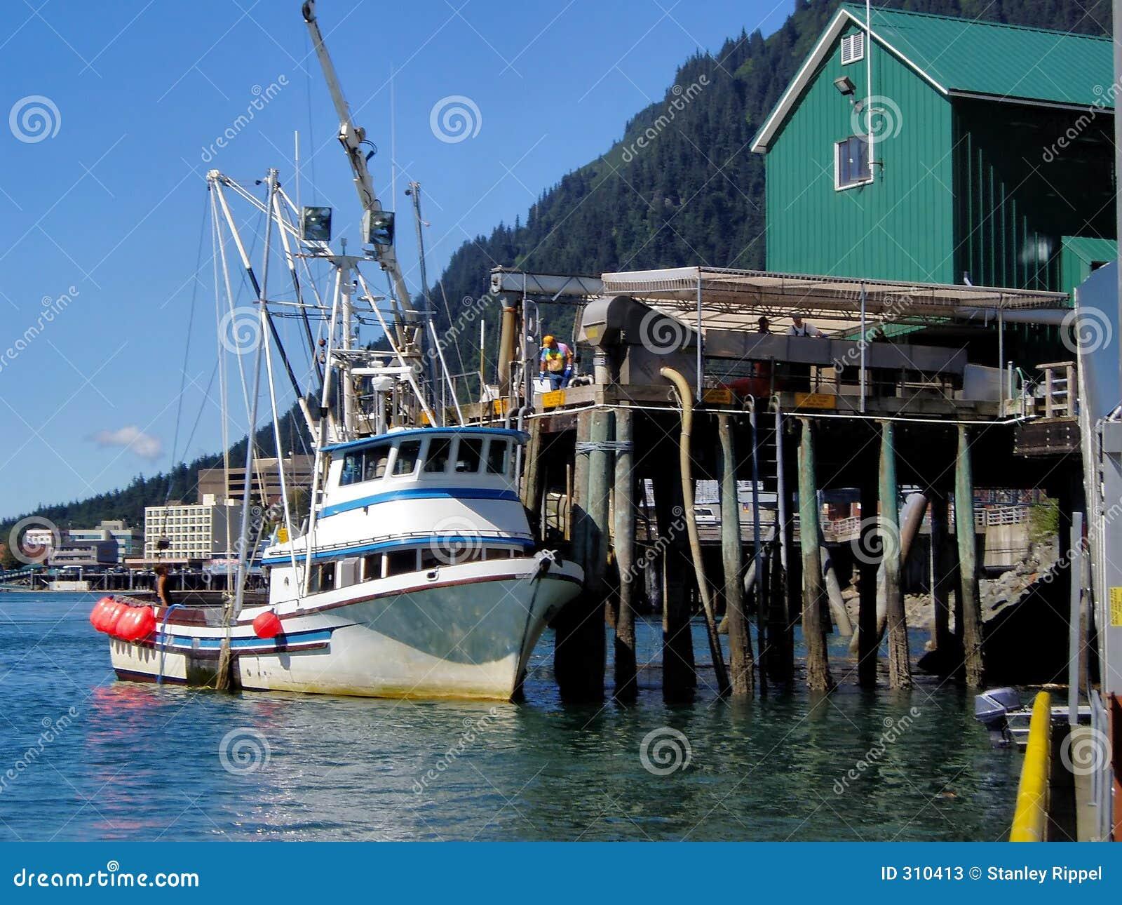 Alaska połowów tankowania łodzi