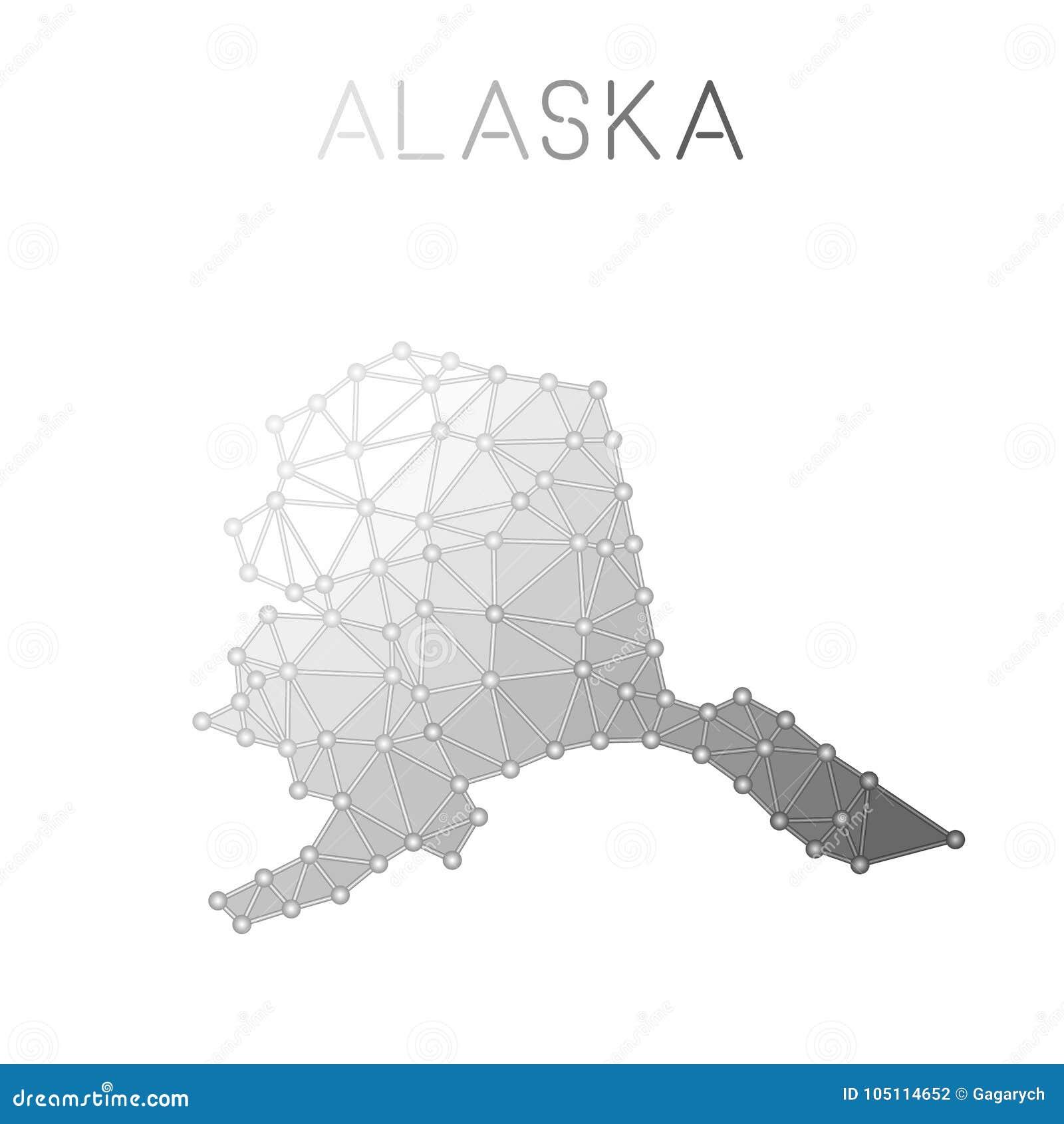 photo regarding Printable Map of Alaska named Alaska Polygonal Vector Map. Inventory Vector - Case in point of