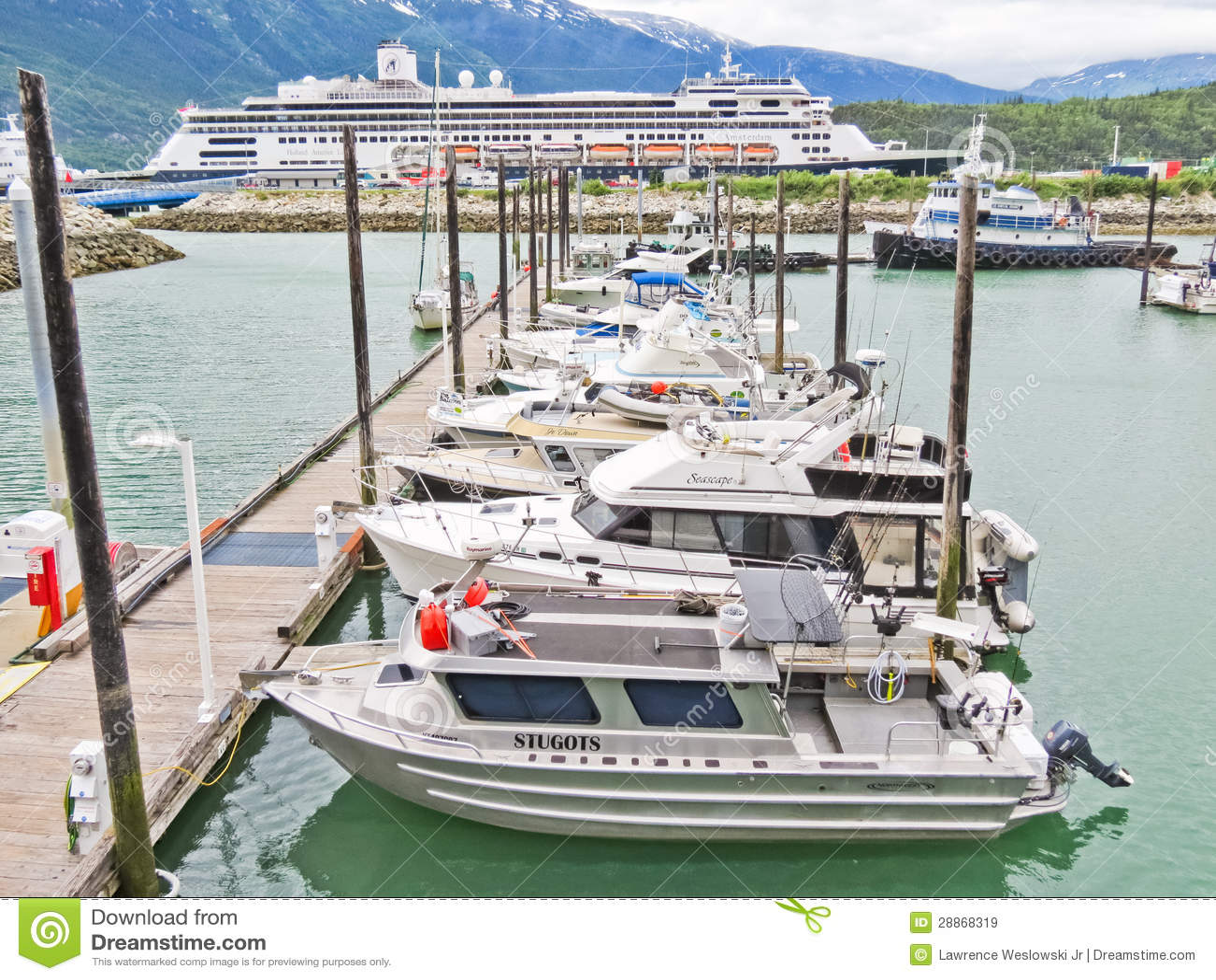 Alaska Skagway Small Boat Harbor Map Editorial Stock Image ...