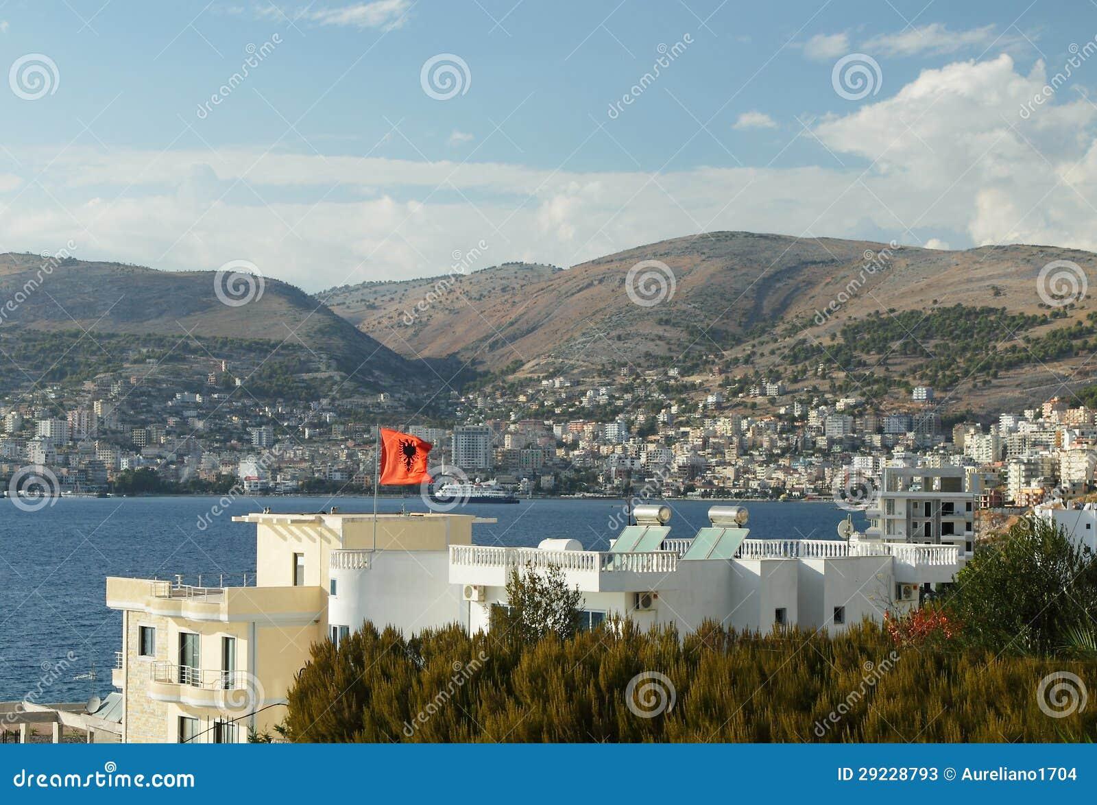 Download Albânia, Recurso De Sarande E Louro, Tarde Imagem de Stock - Imagem de ionian, tarde: 29228793