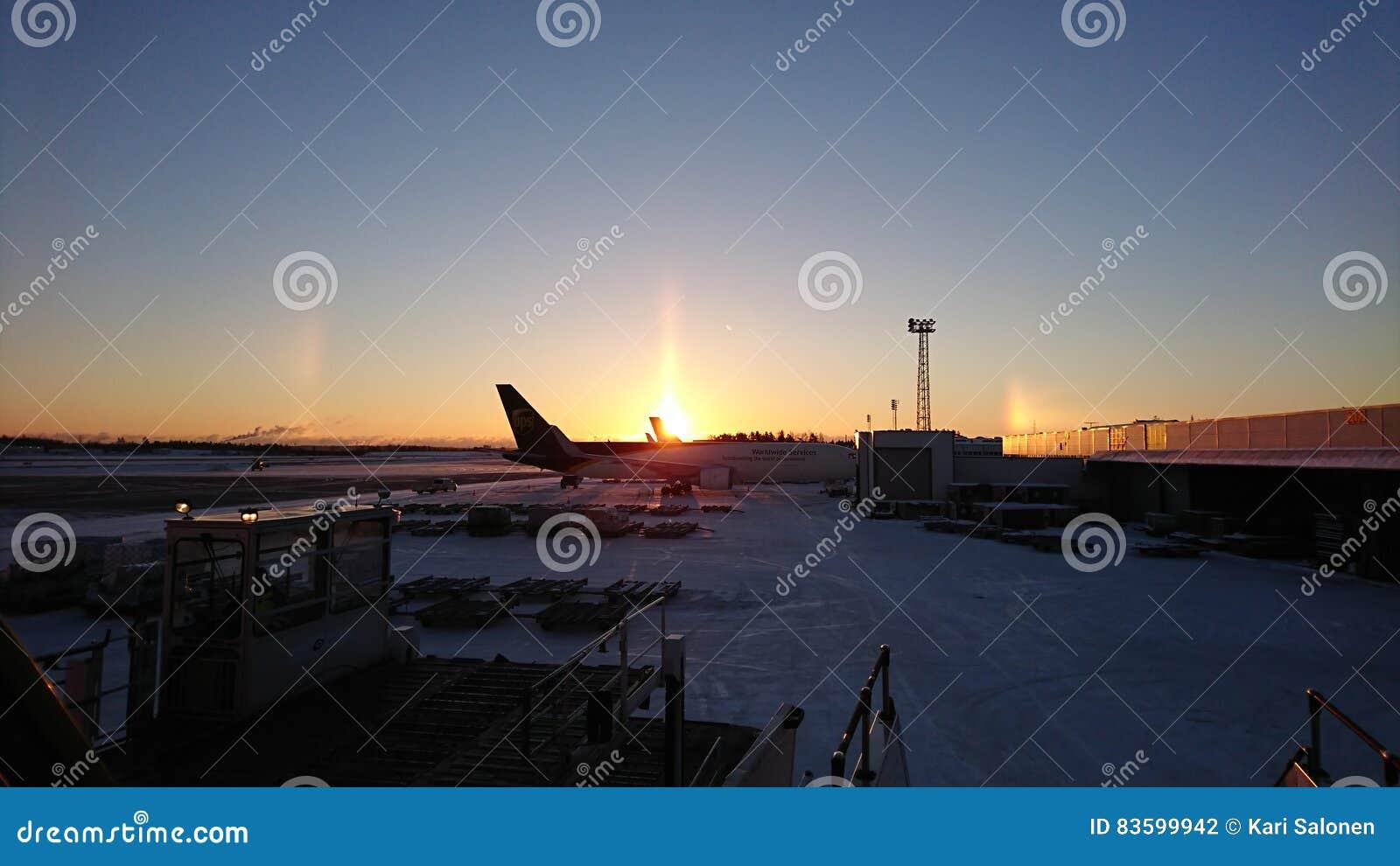 Alba dell aeroporto
