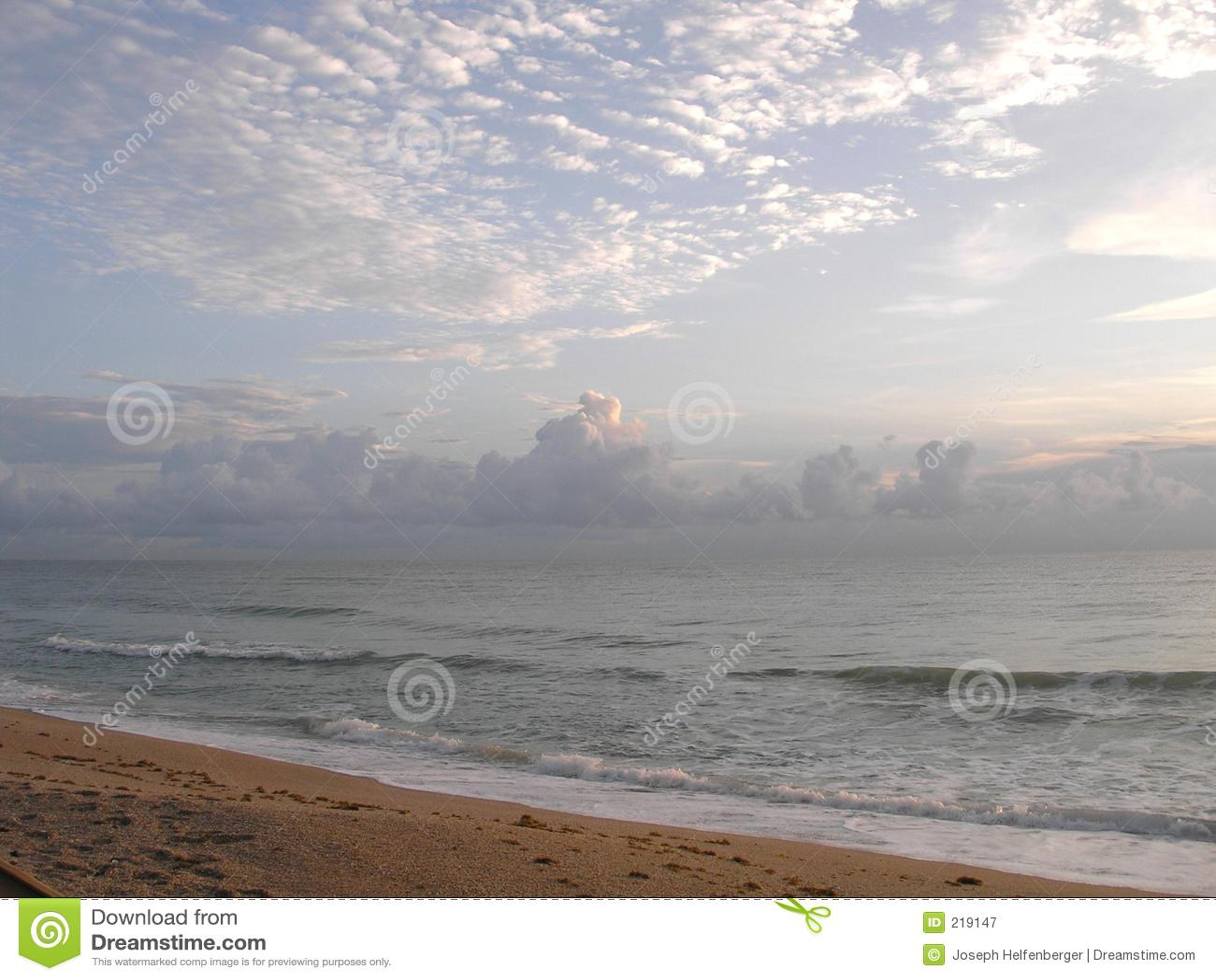 Alba della spiaggia