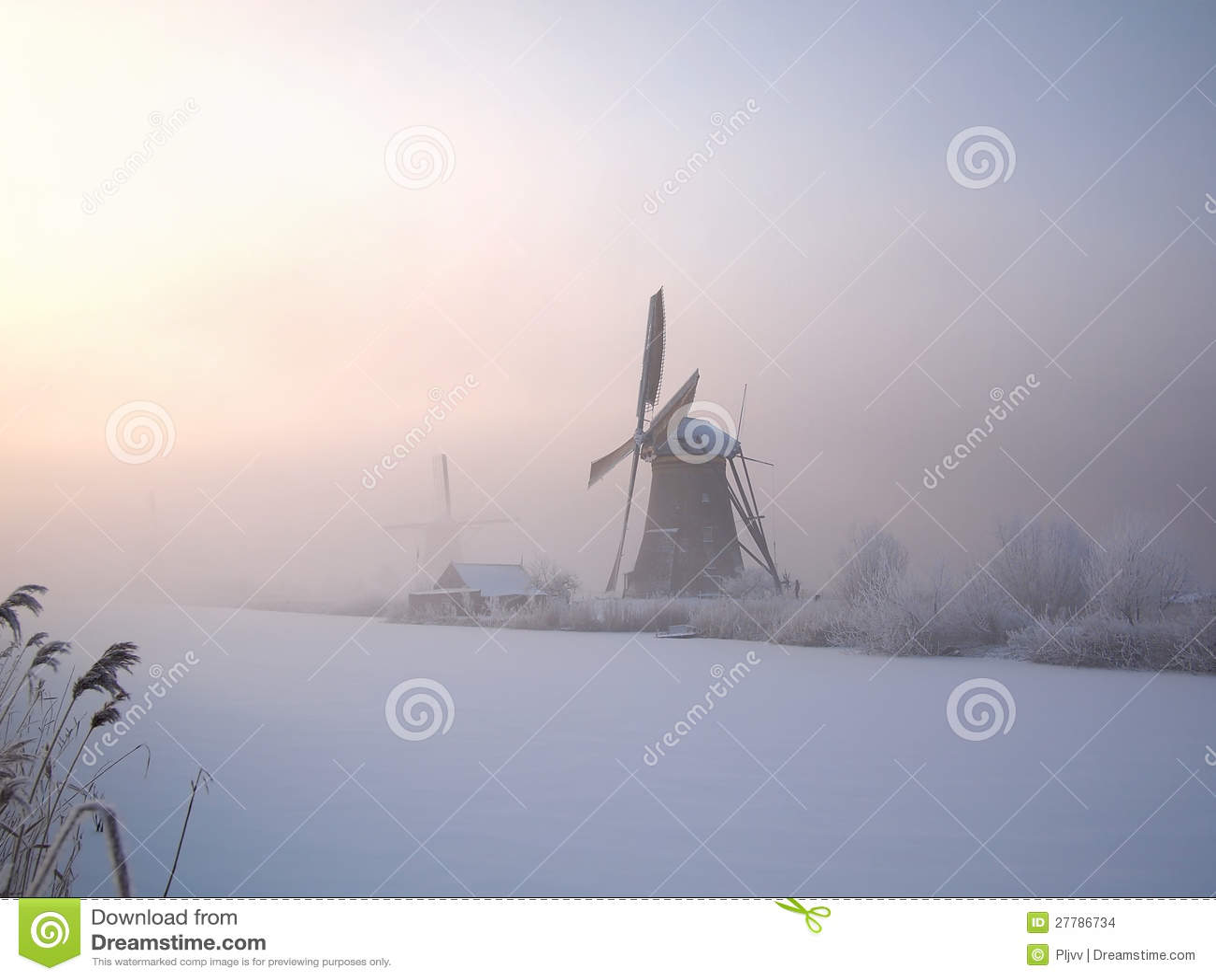 Alba di inverno in Olanda