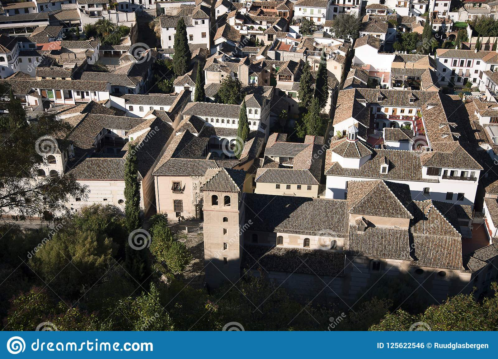 Albaicin Overview From The Alhambra Stock Photo - Image of rest