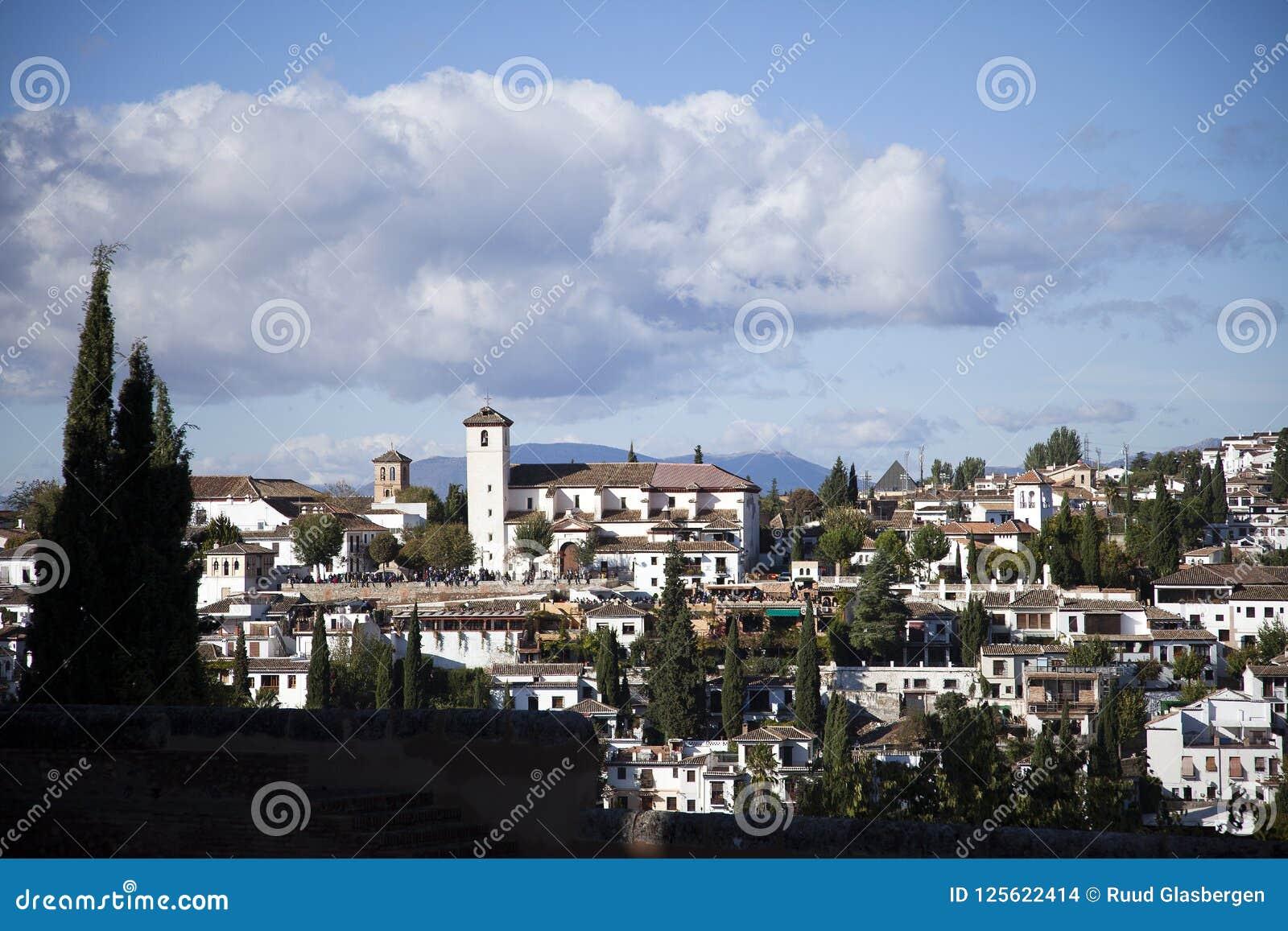 Albaicin, The Historic Moorish Quarter Of The City Of Granada Stock