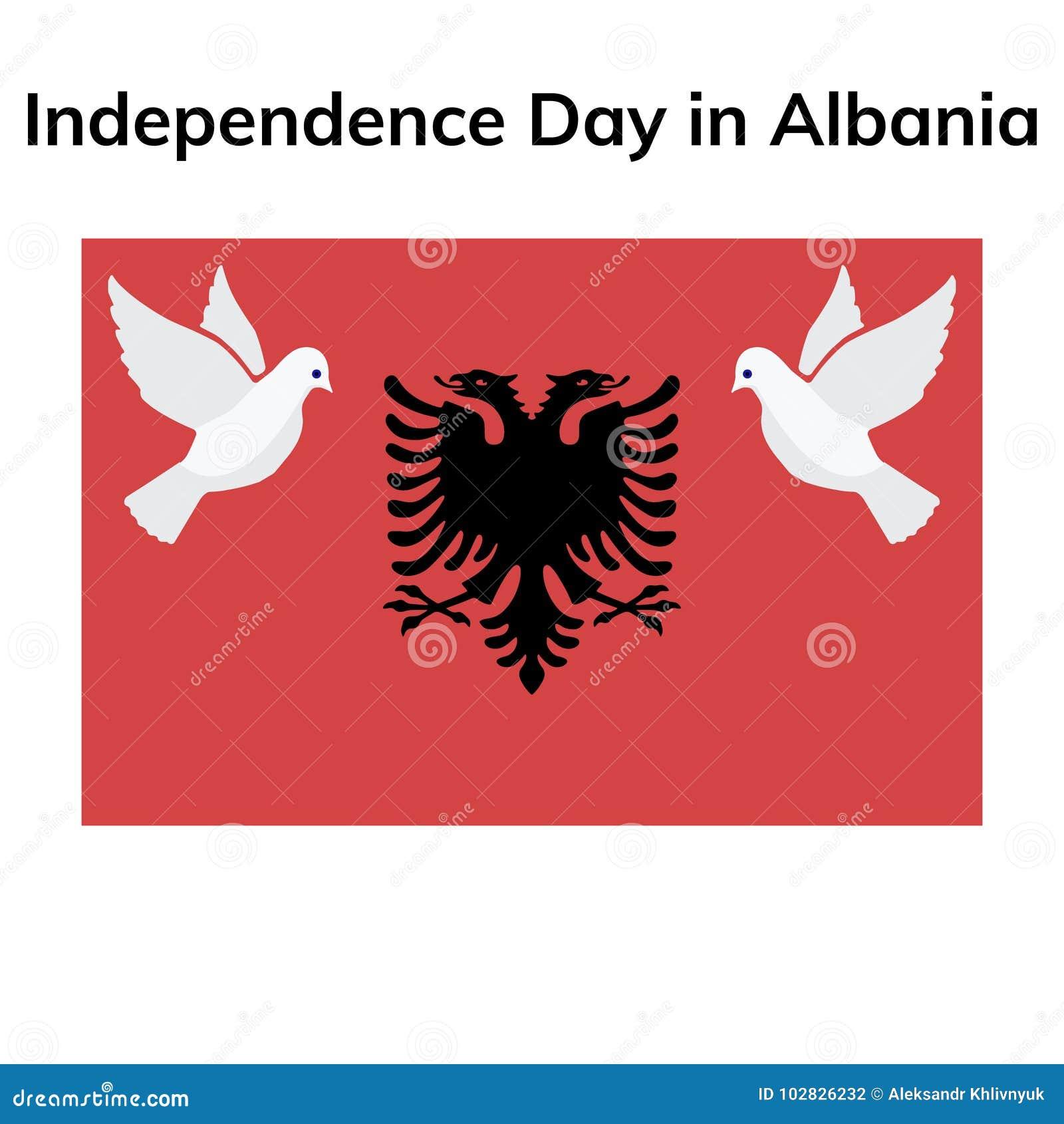 Albania dnia niepodległości Patriotyczny projekt