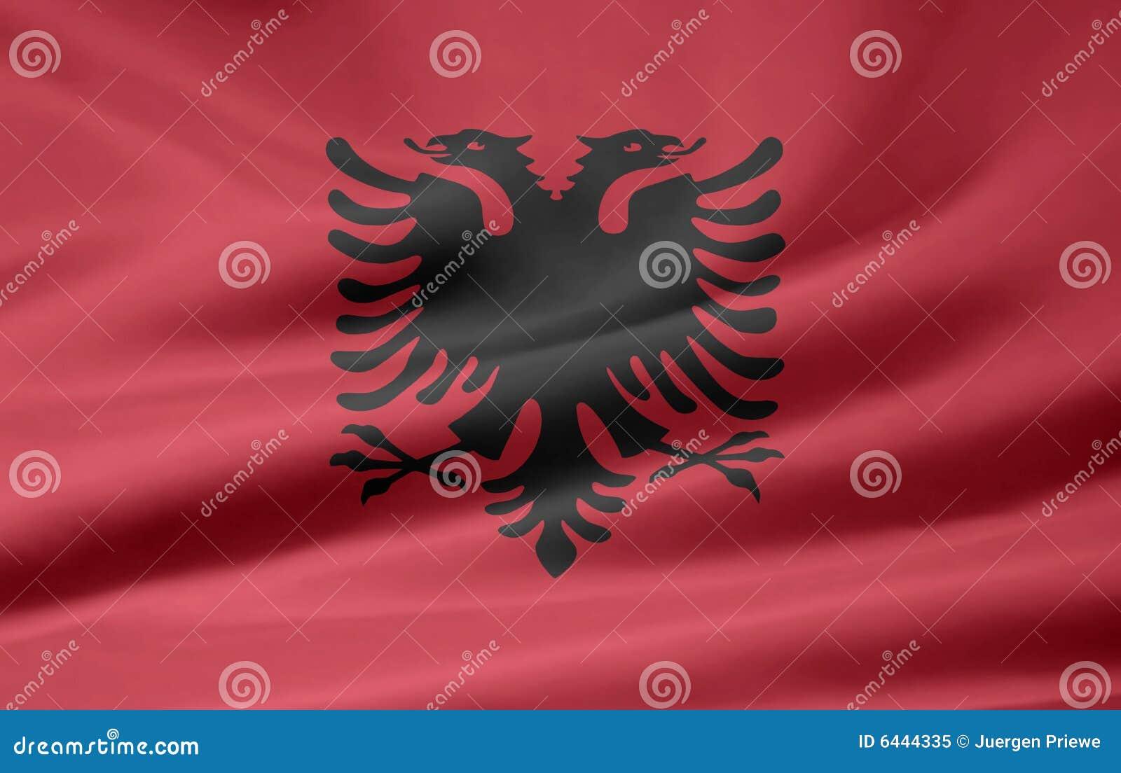 Albania flagga