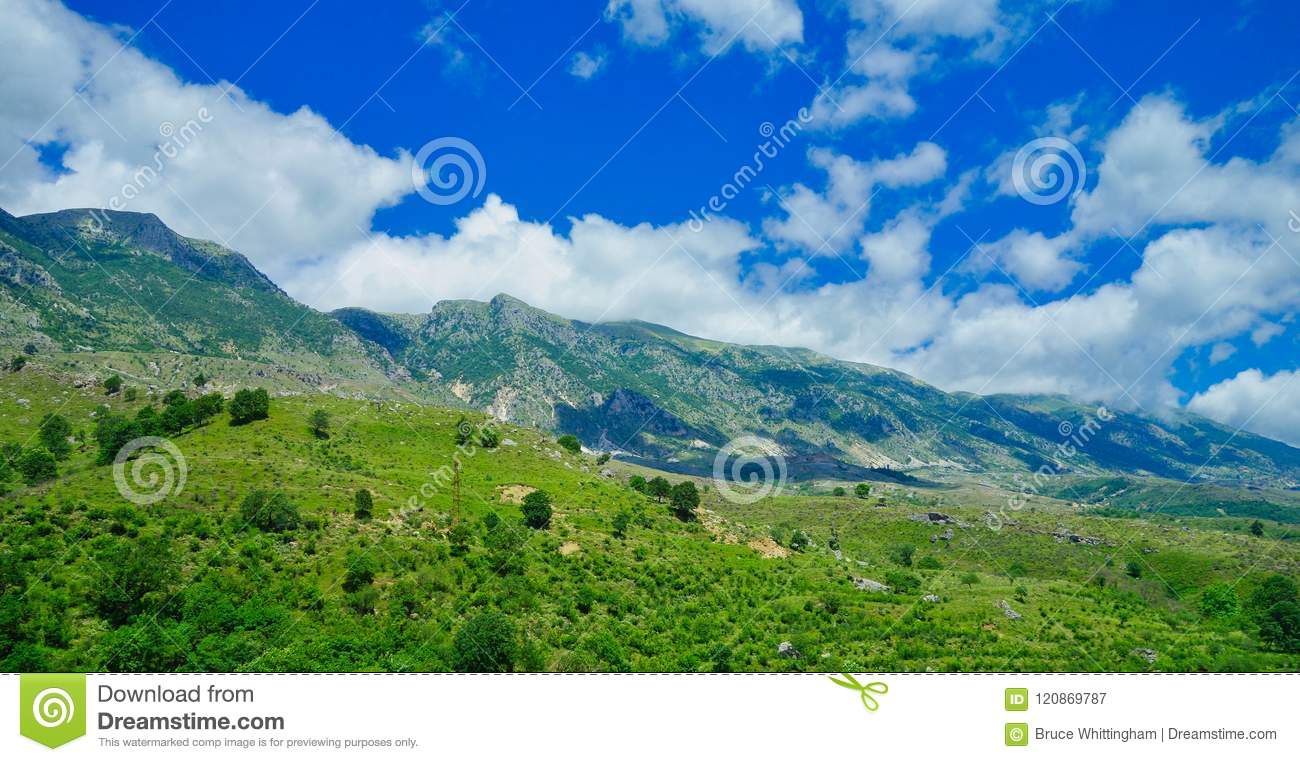 Albania landscape; Mountains, and Forest